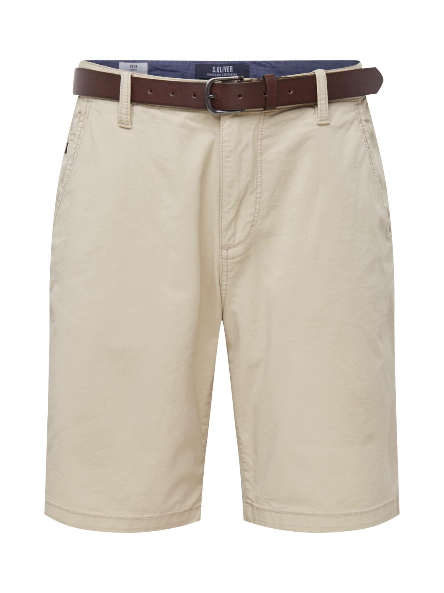 S.Oliver Chino kalhoty  béžová