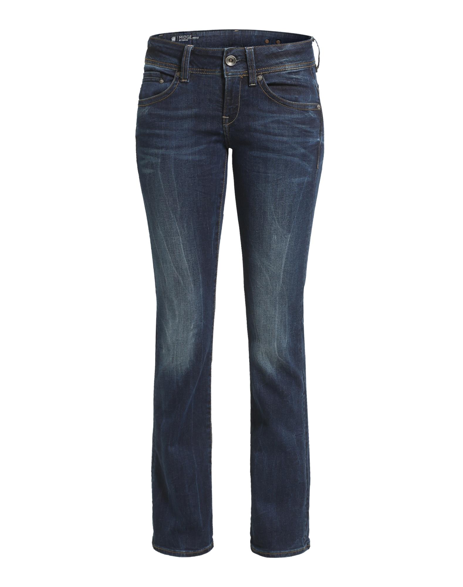G-STAR RAW Dames Jeans Midge Saddle Mid Bootleg blauw
