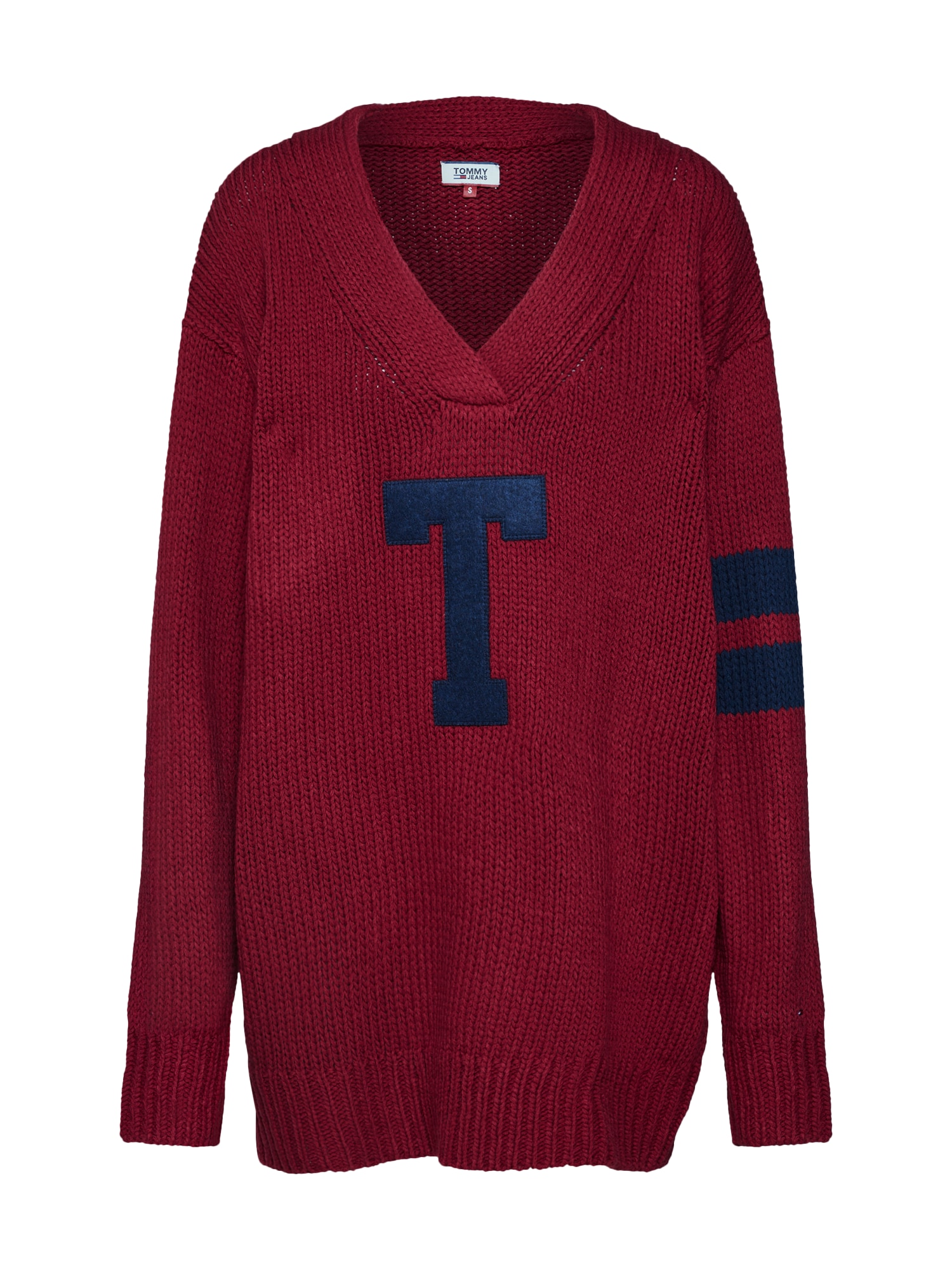 Maxi svetr burgundská červeň Tommy Jeans