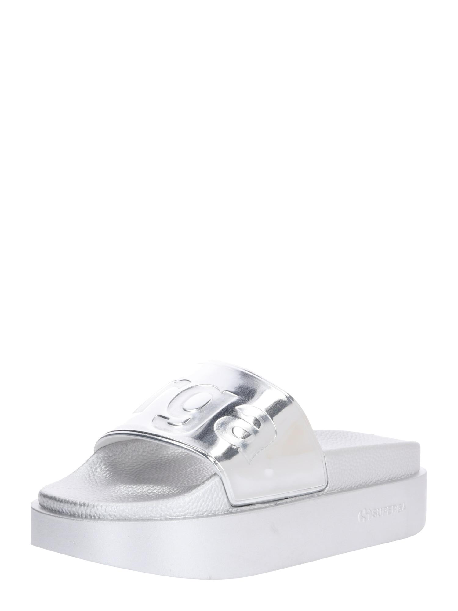 Pantofle 1919 šedá stříbrná SUPERGA
