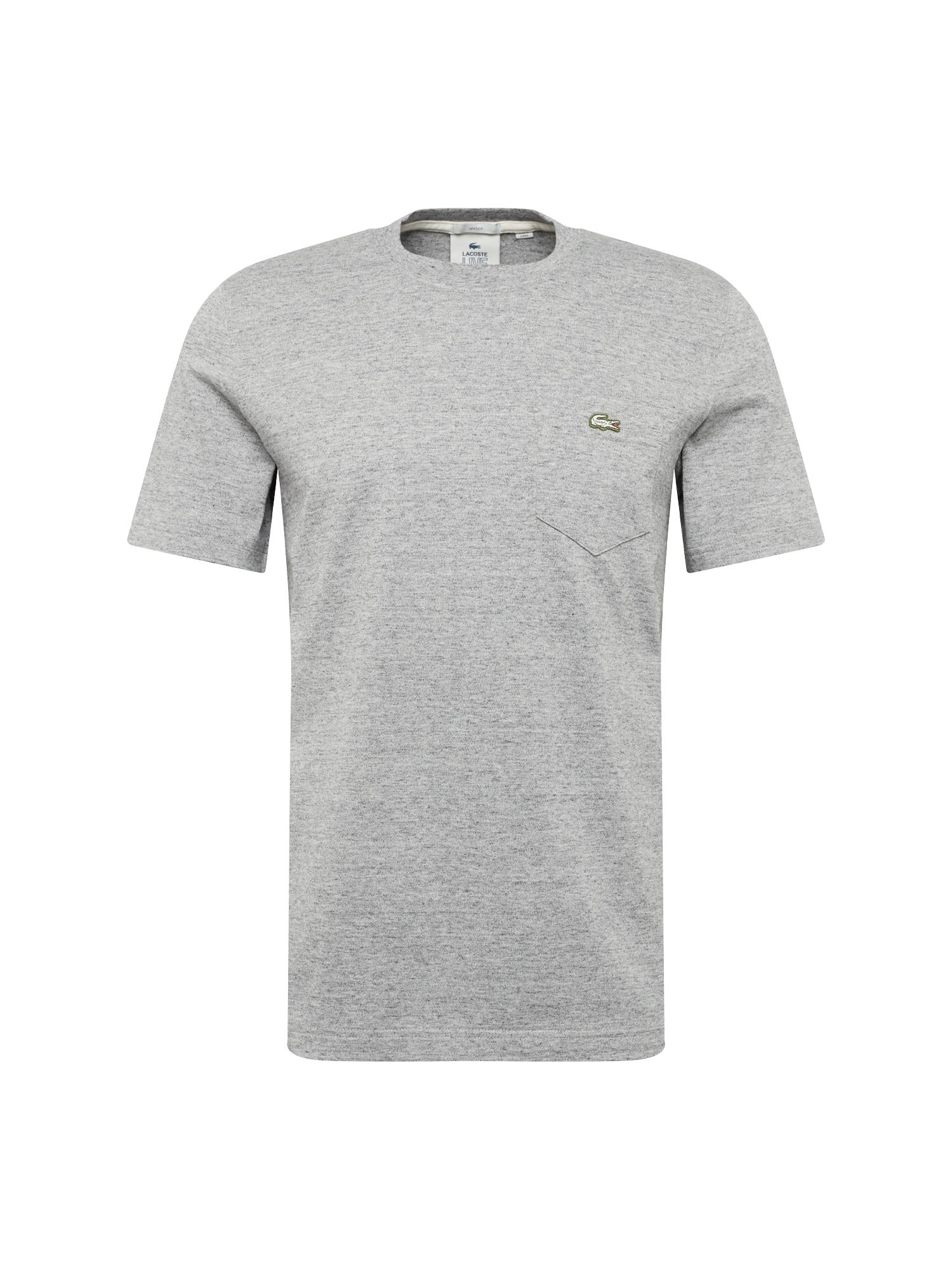 Tričko šedý melír Lacoste LIVE