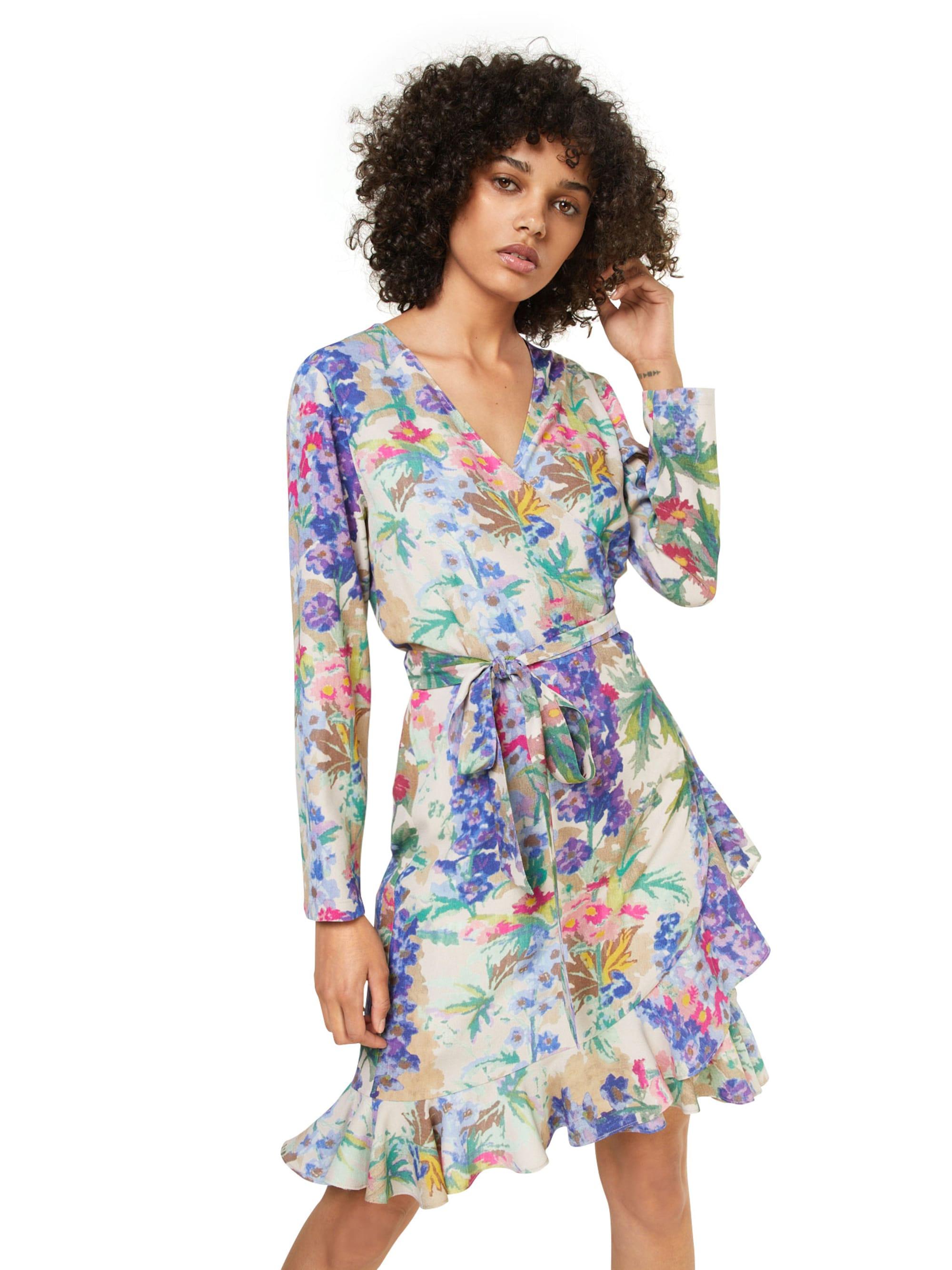 Samsoe & Samsoe Sukienka 'Limon ls'  kremowy / niebieski / zielony