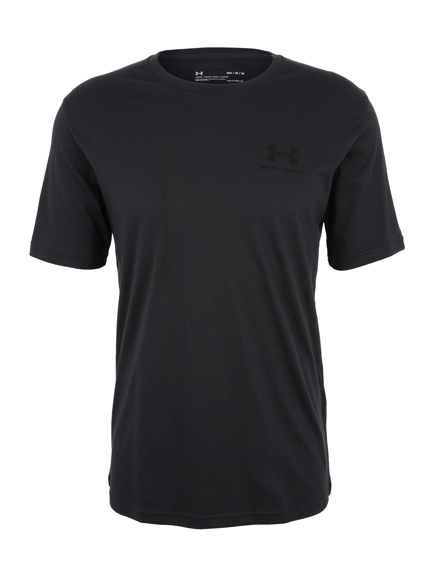 UNDER ARMOUR Funkční tričko 'Sportstyle'  černá