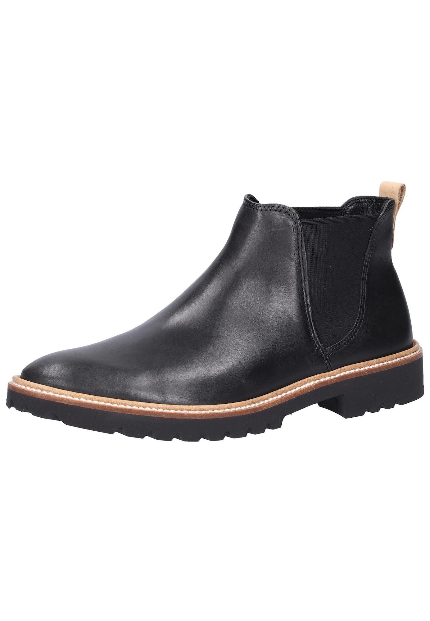 Chelsea boty světle béžová černá ECCO