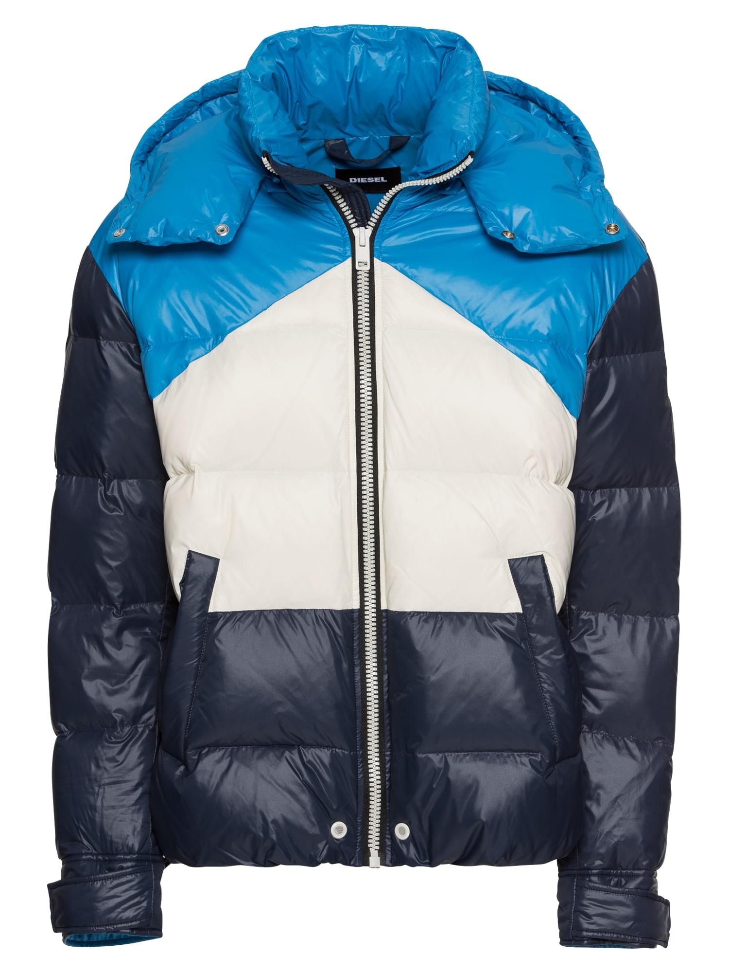 Zimní bunda W-SMITH-WH JACKE modrá noční modrá bílá DIESEL