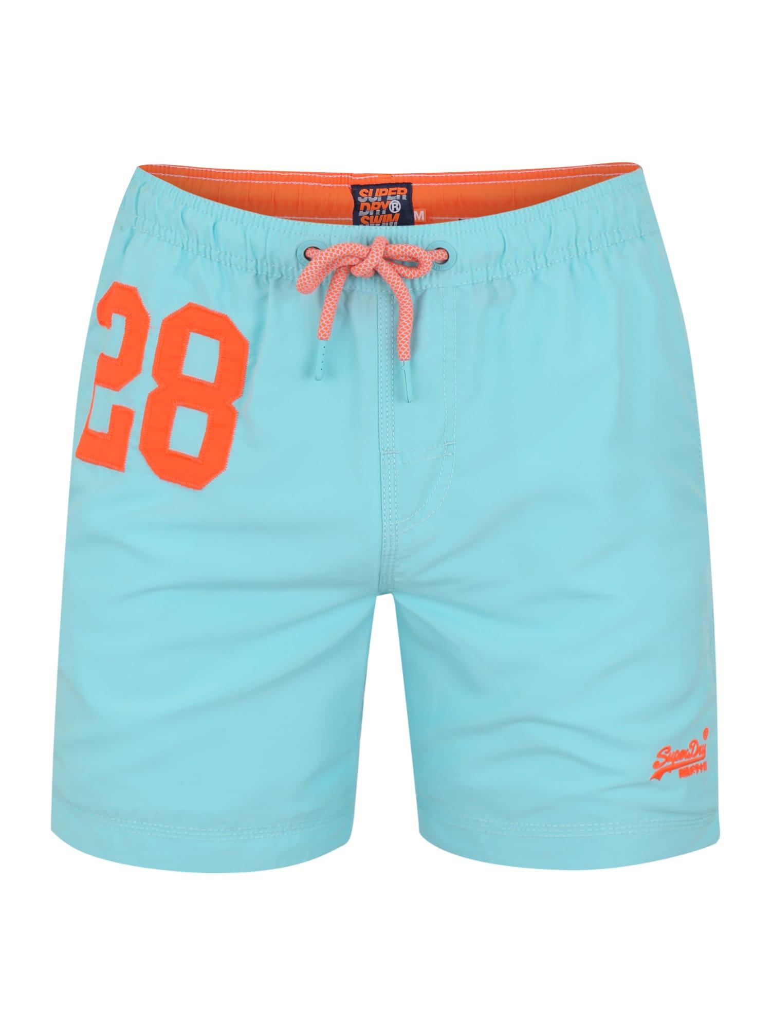 Plavecké šortky Water tyrkysová oranžová Superdry
