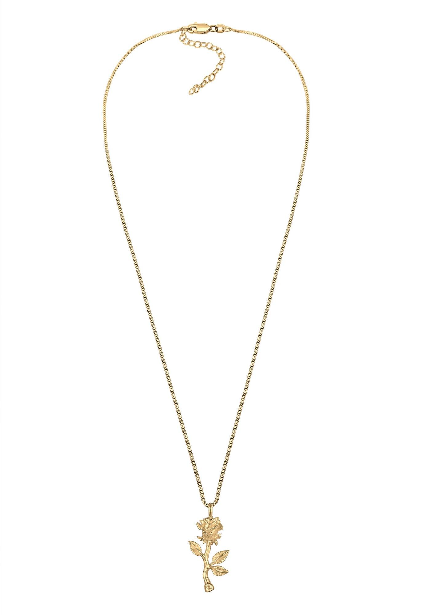 Halskette 'Rose' | Schmuck > Halsketten > Lange Ketten | Gold | ELLI