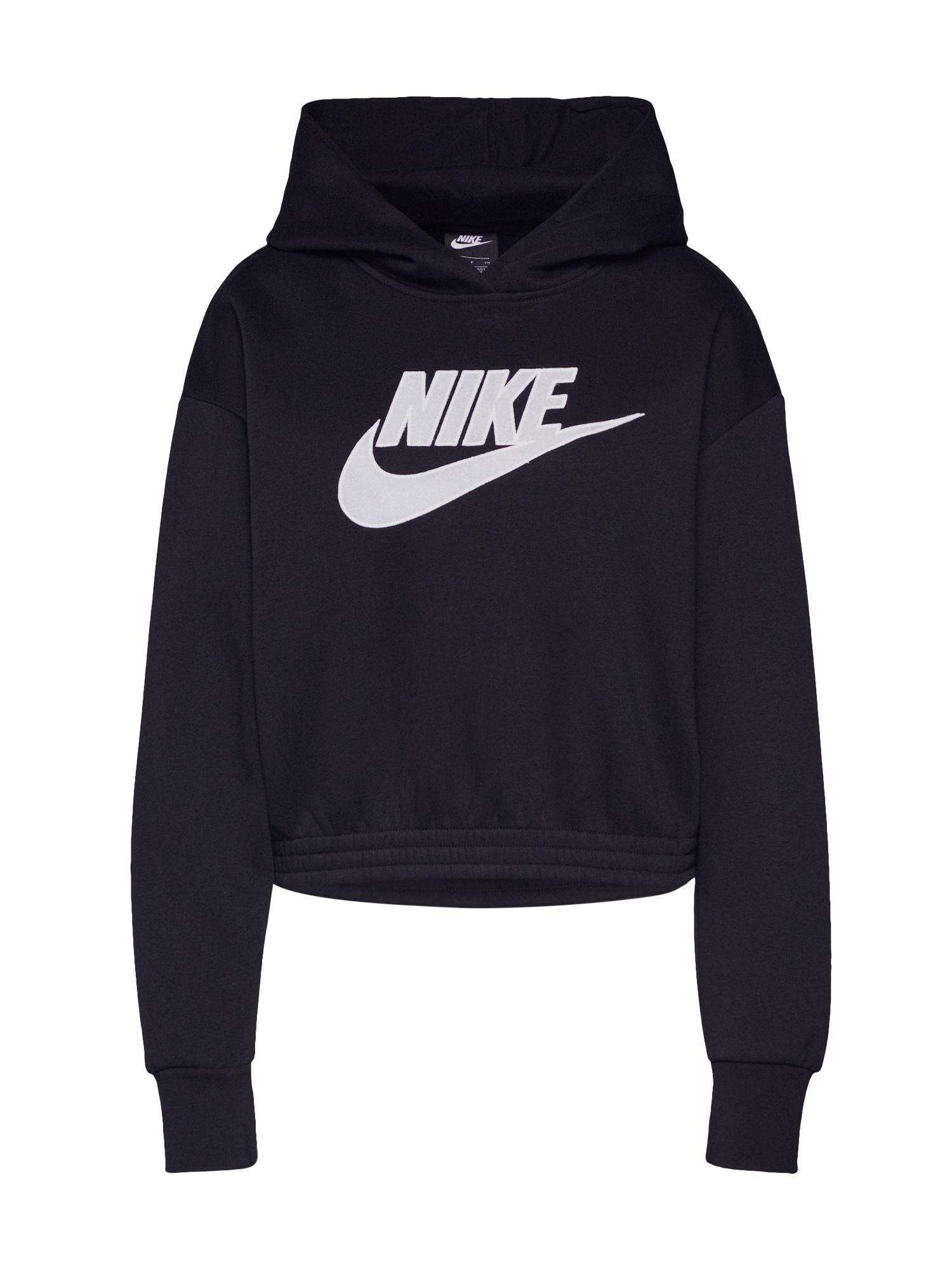 Nike Sportswear Mikina 'W NSW ICN CLSH FLC HOODIE BB'  čierna