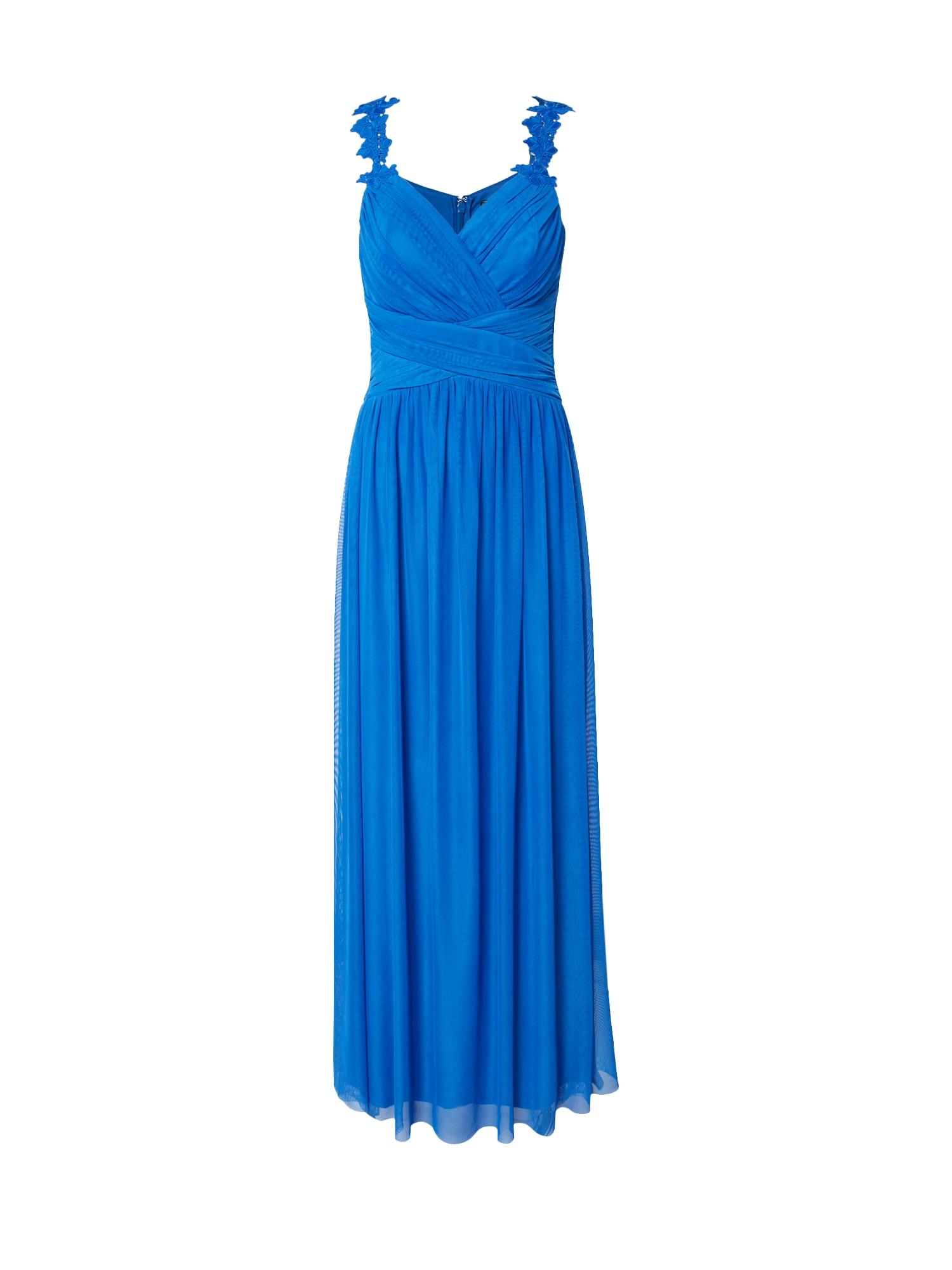 Lipsy Večerné šaty 'WS FLWR STRP MAXI'  modré