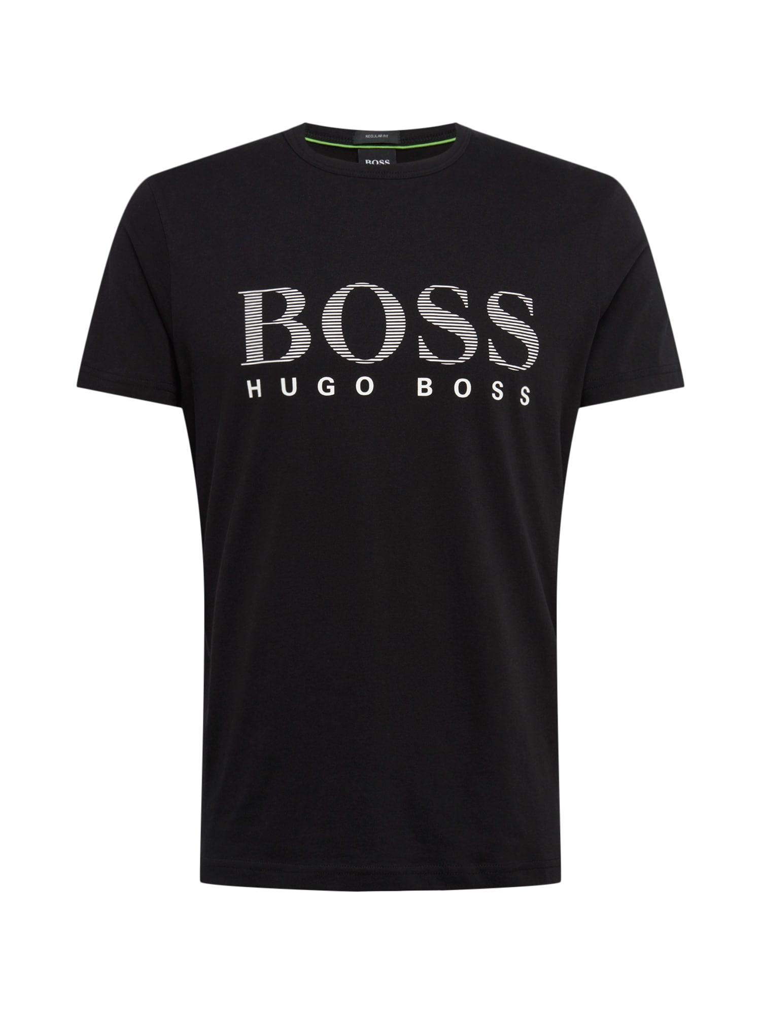 Tričko Teeos 10165506 01 šedá černá BOSS