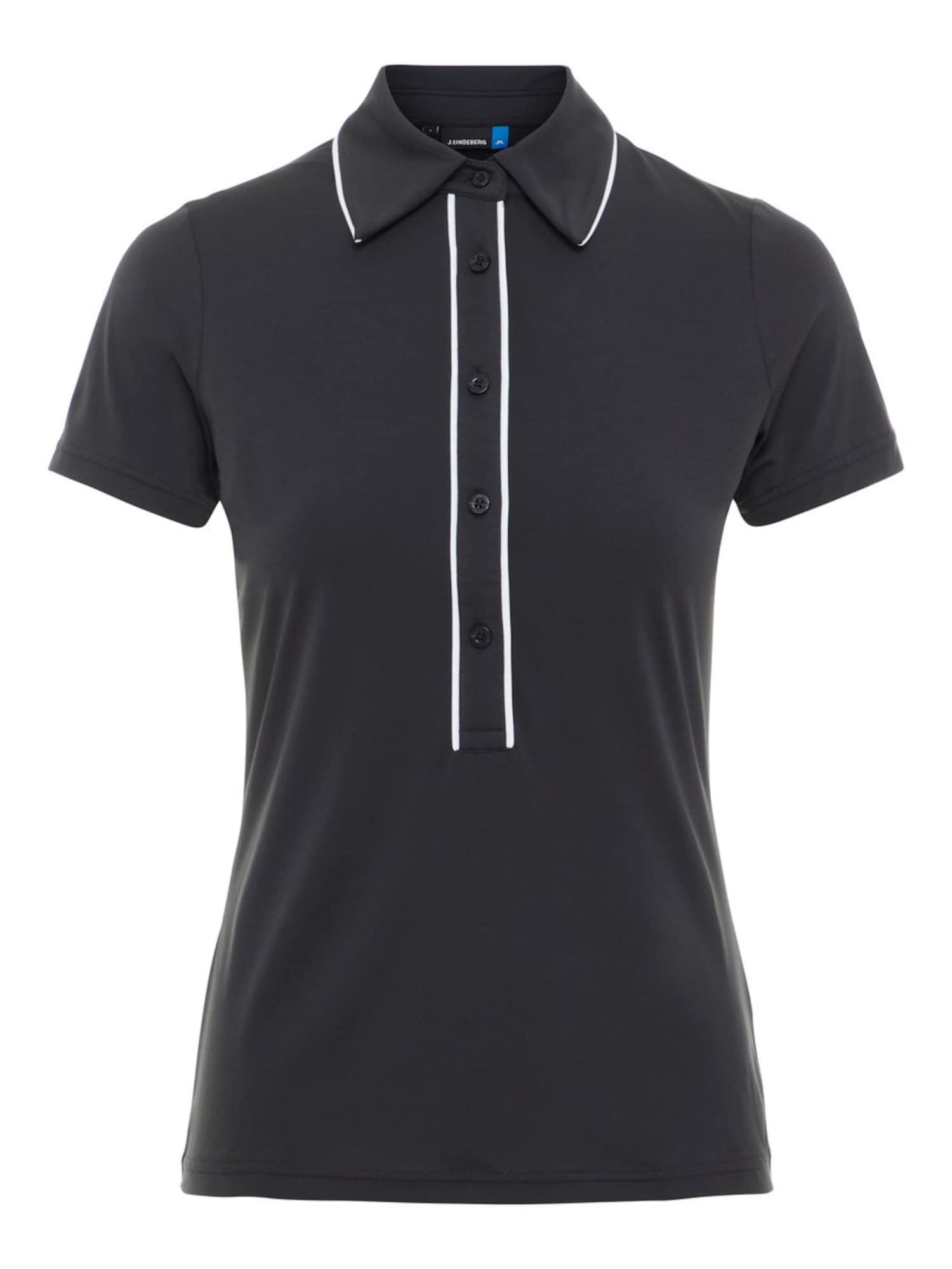 Poloshirt 'Flor' | Bekleidung > Shirts > Poloshirts | Schwarz - Weiß | J.Lindeberg