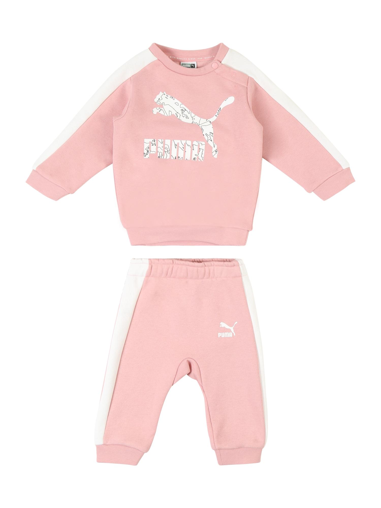 Joggingová souprava Minicats růžová bílá PUMA