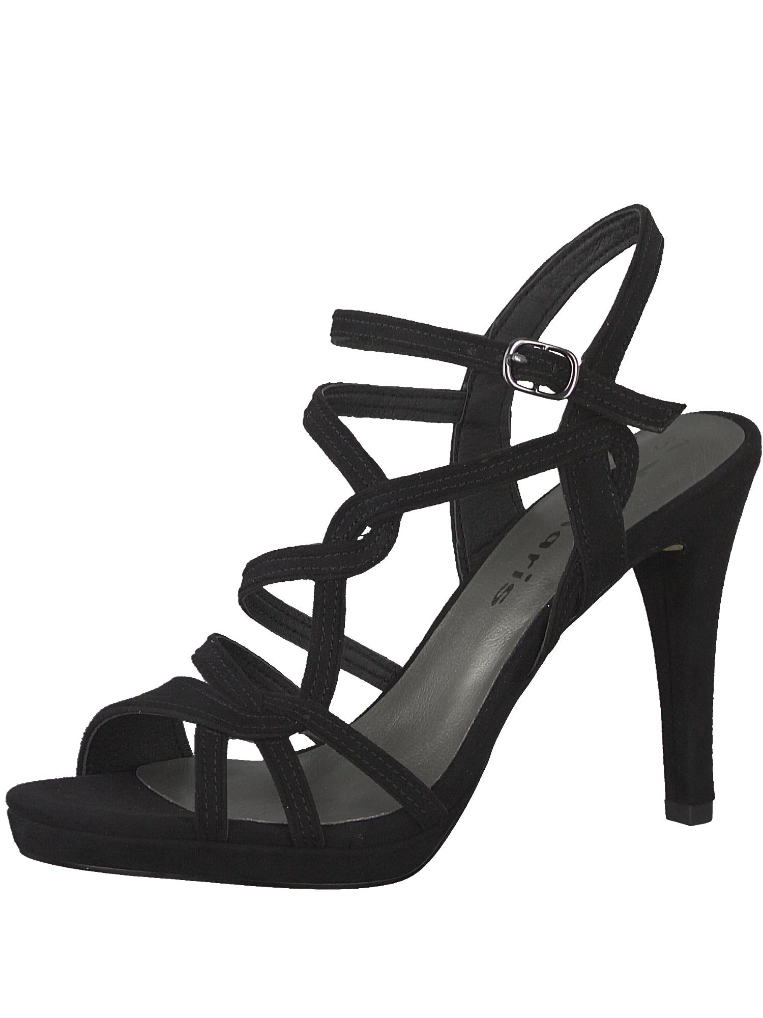 Páskové sandály černá TAMARIS