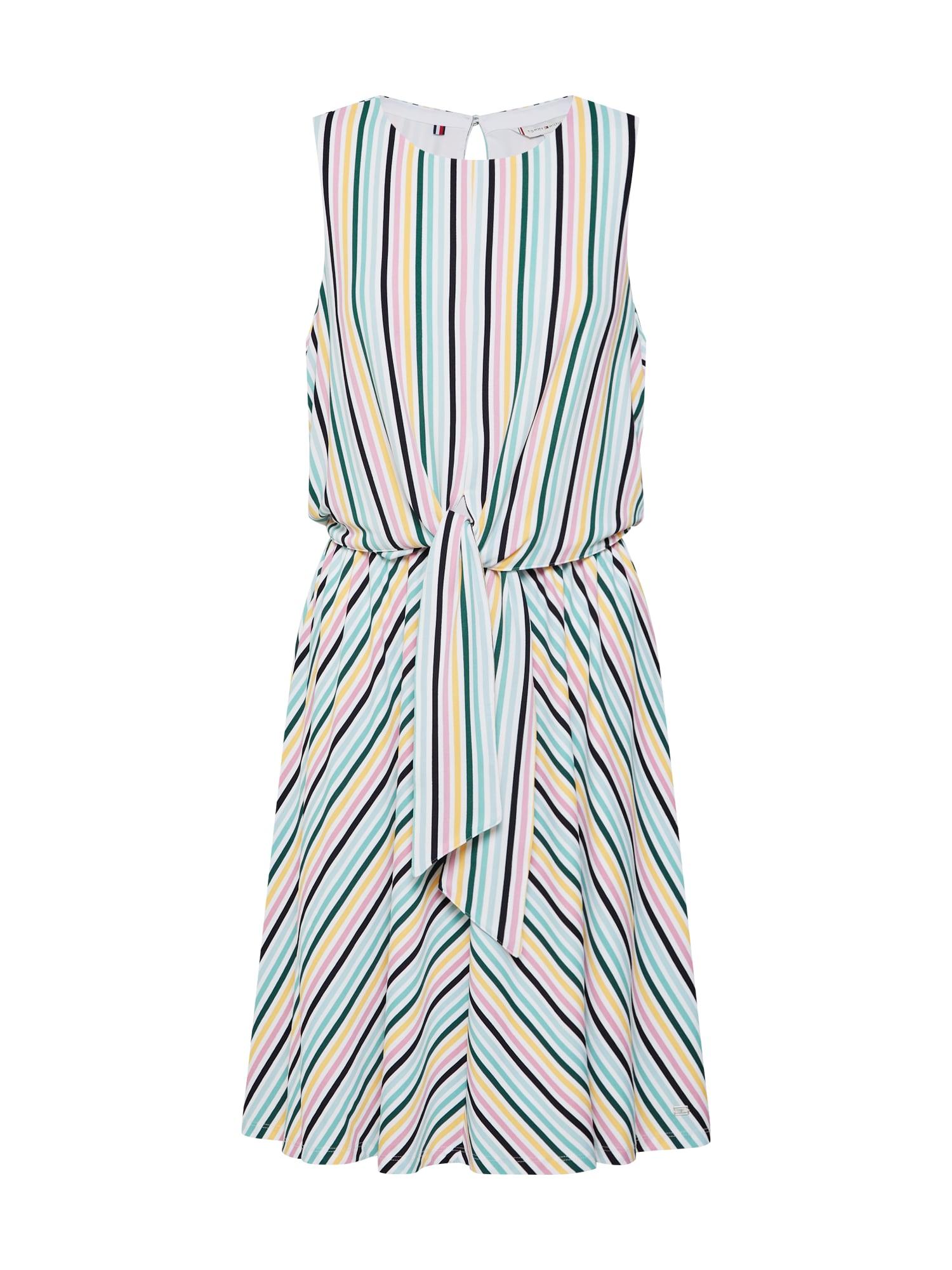 Letní šaty Barbara Knot mix barev TOMMY HILFIGER