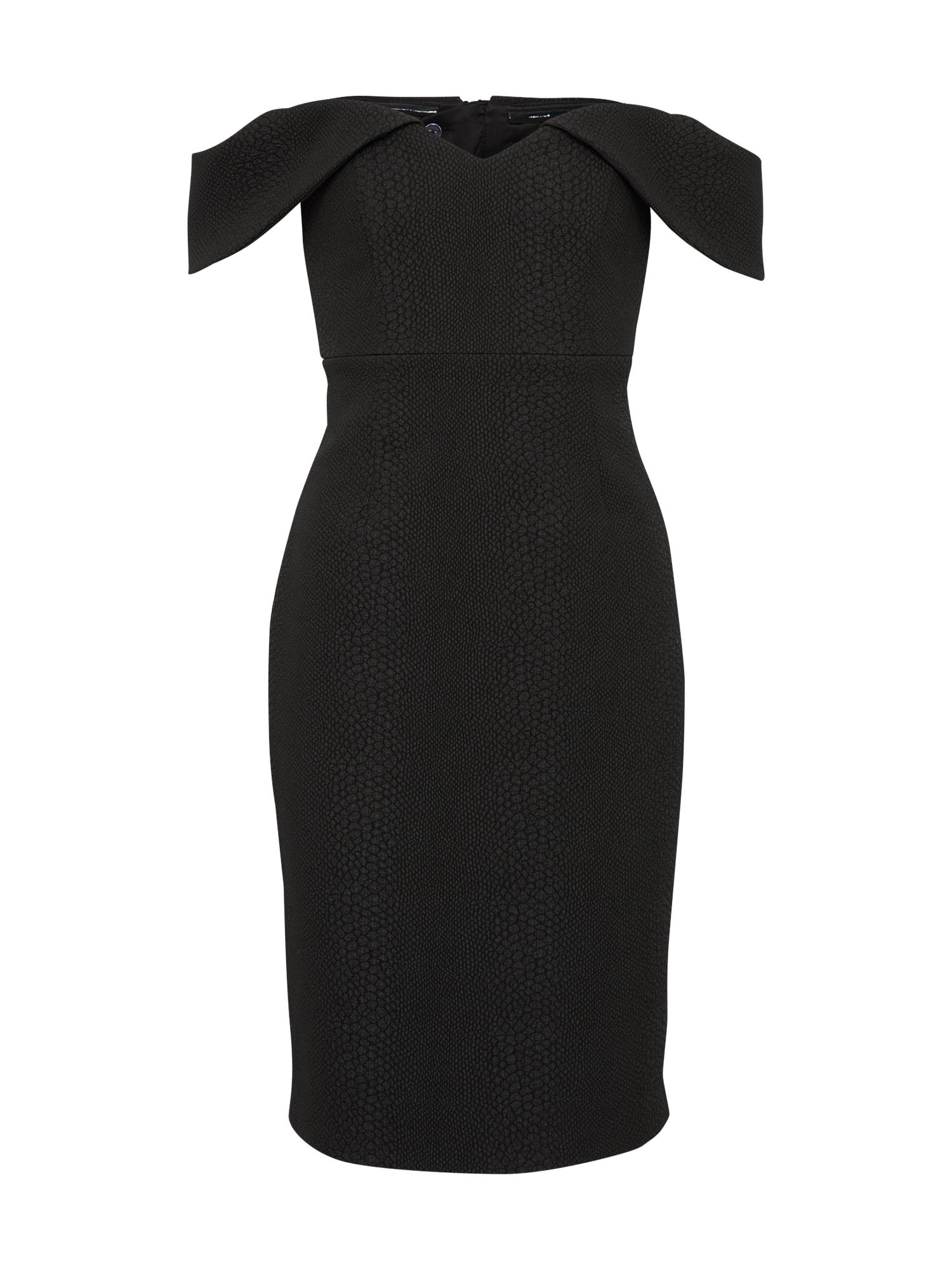 Koktejlové šaty EVA SNAKE černá Bardot