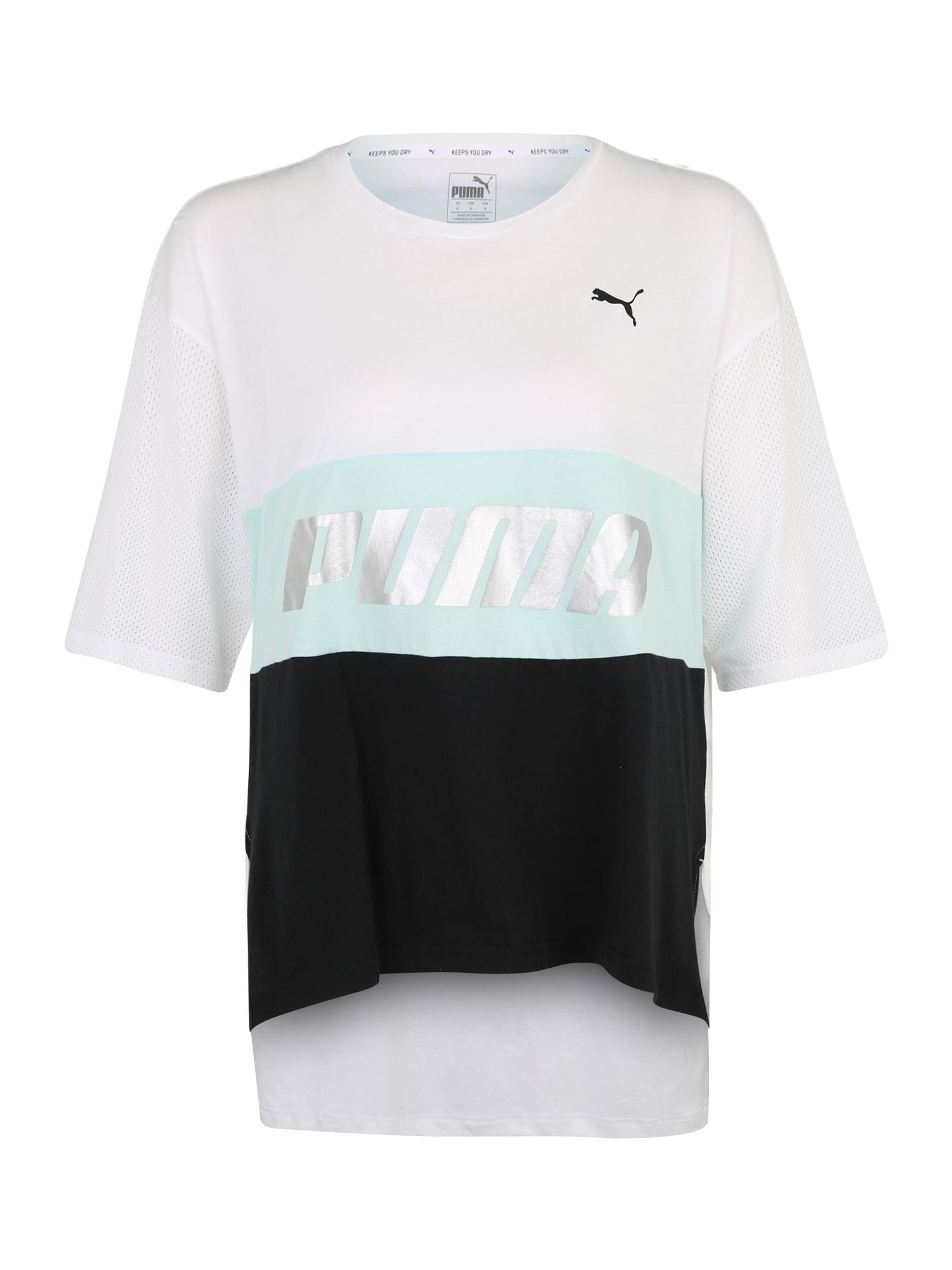 Funkční tričko Modern Sports Boyfriend Tee světlemodrá černá bílá PUMA