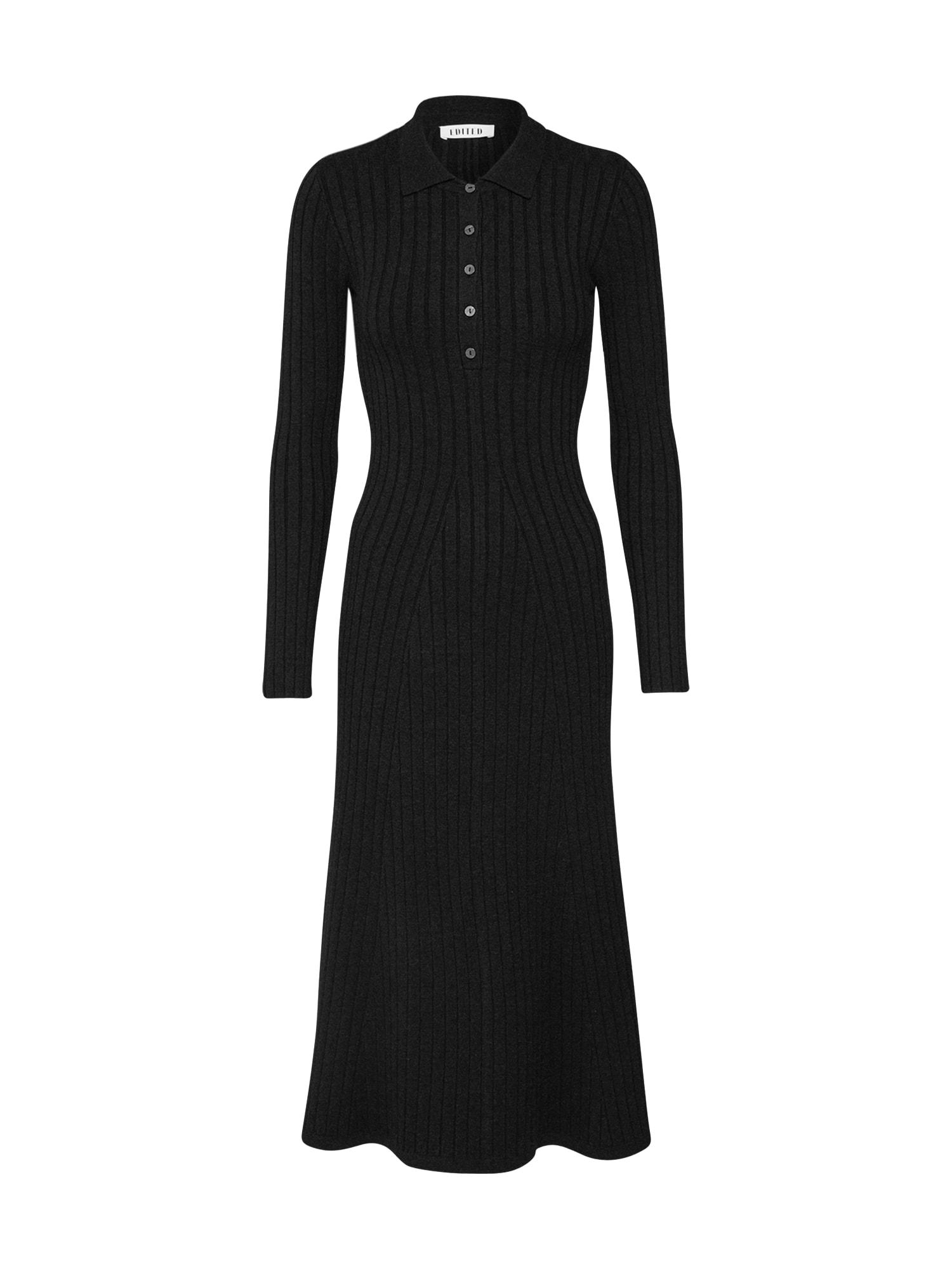 Úpletové šaty Wren antracitová EDITED