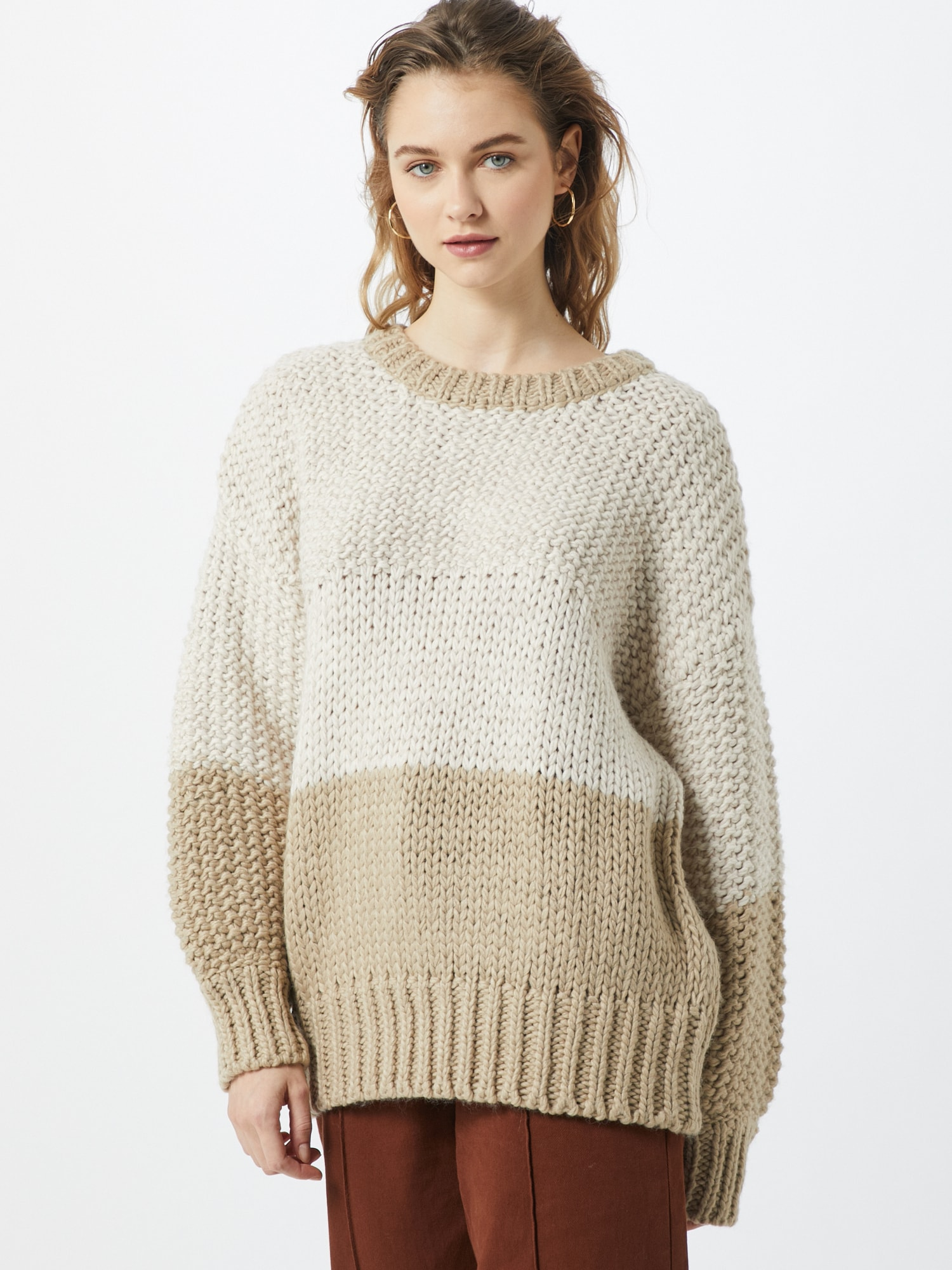 na-kd - Pullover 'two coloured heavy knitted sweater'