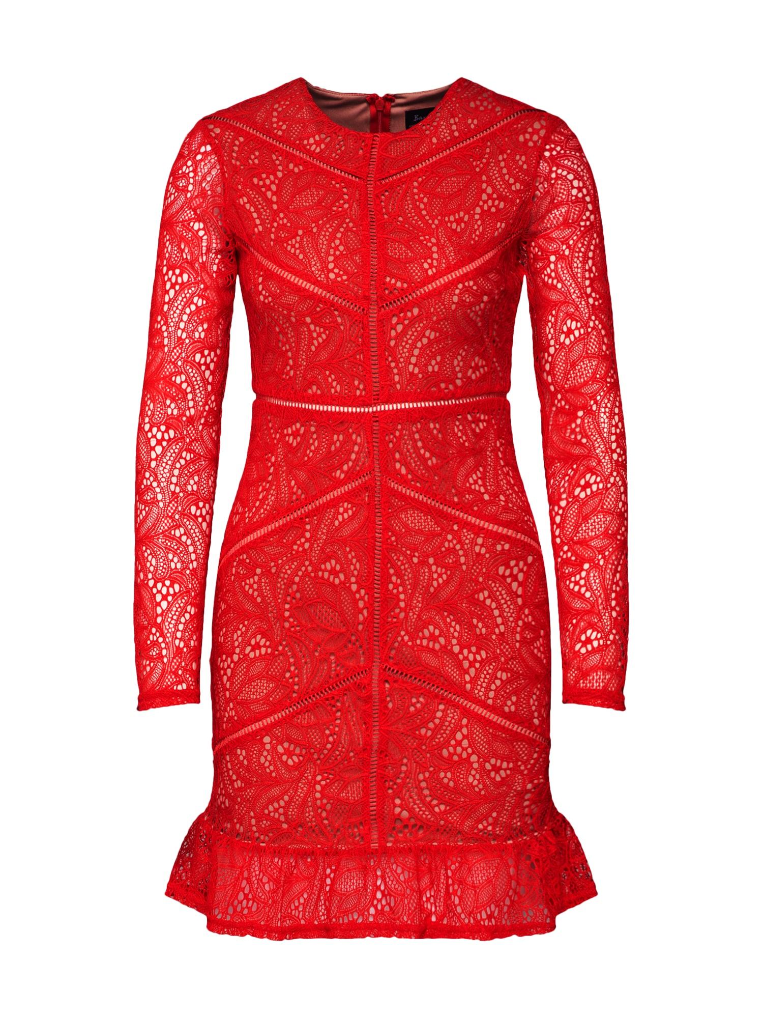 Šaty SASHA červená Bardot
