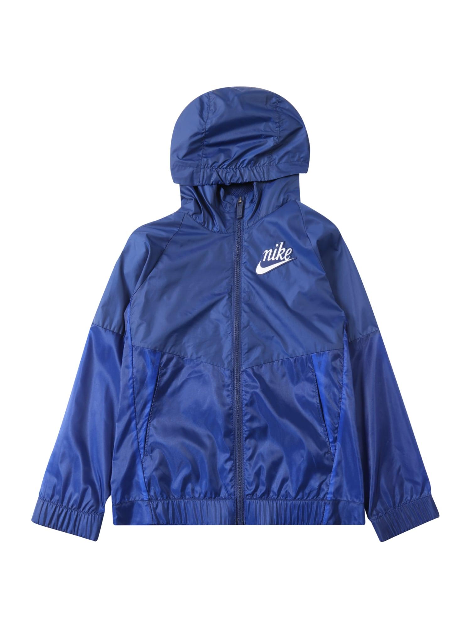 Sportovní bunda G NSW WINDRUNNER AOP6 kouřově modrá NIKE