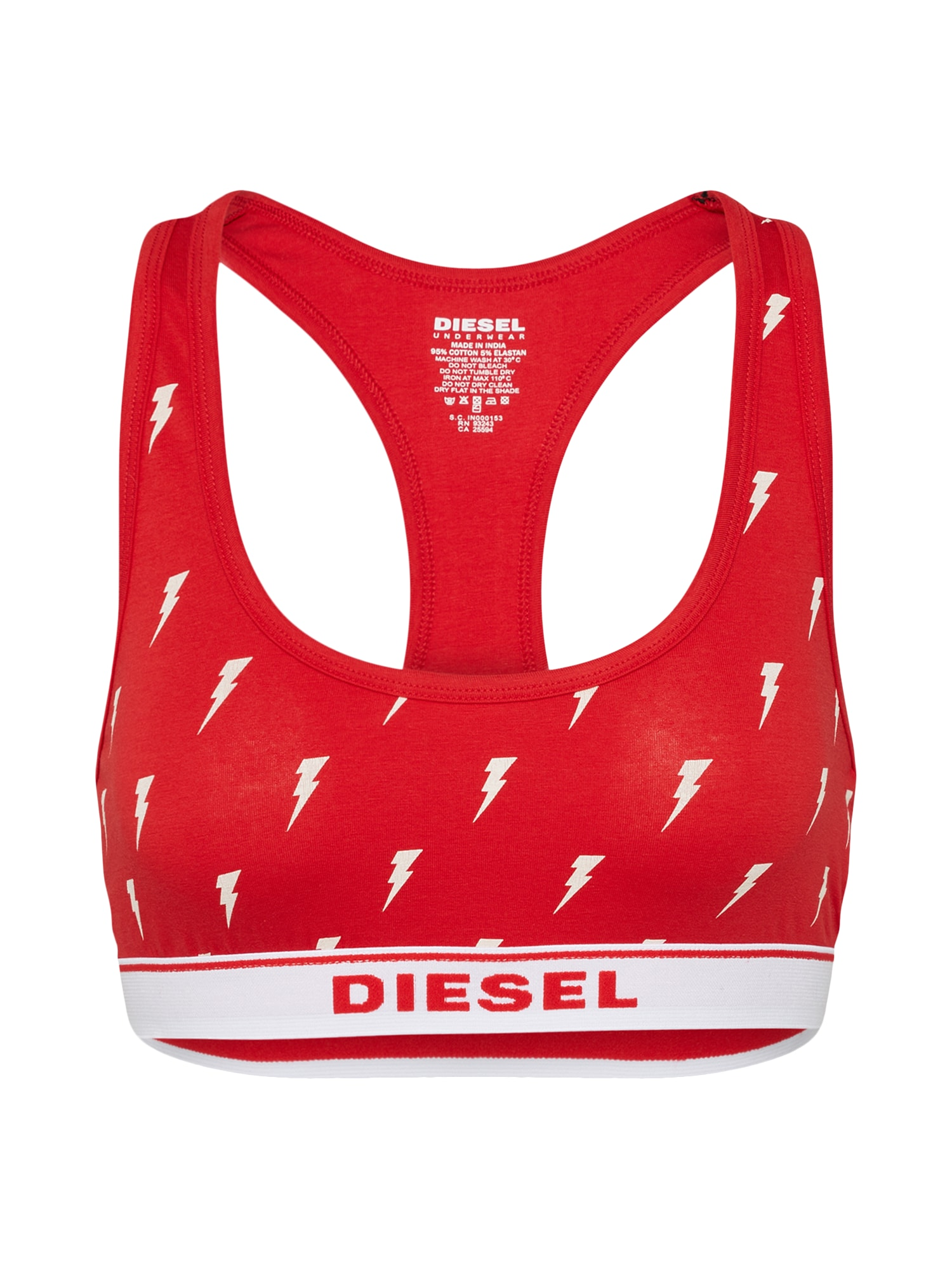 DIESEL Dames BH UFSB-MILEY rood wit