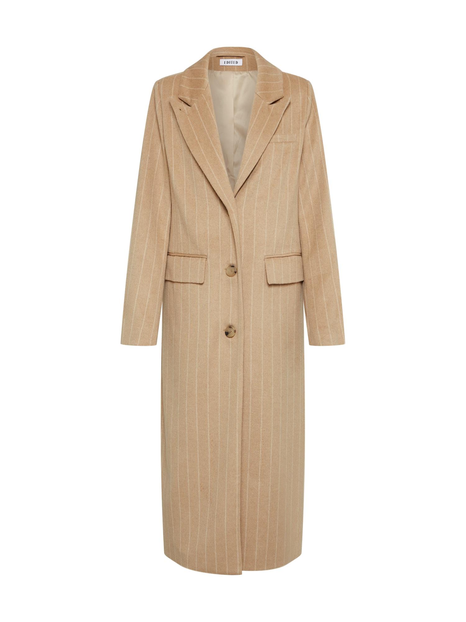 Zimní kabát Danika béžová bílá EDITED