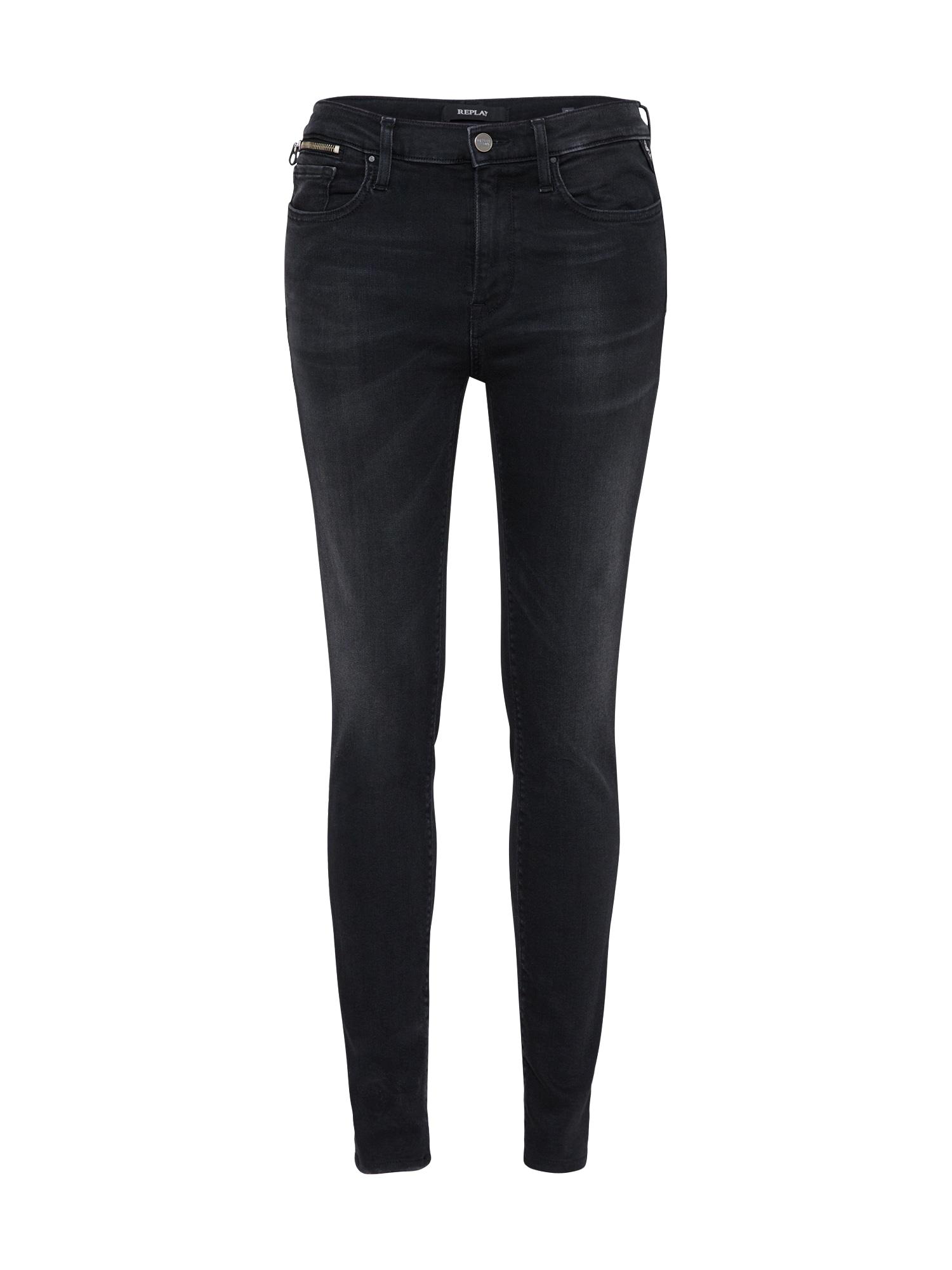 REPLAY Dames Jeans ELAEBER black denim