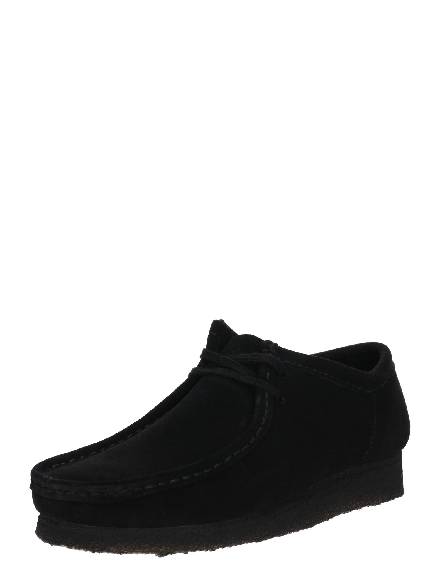 Šněrovací boty Wallabee černá Clarks Originals