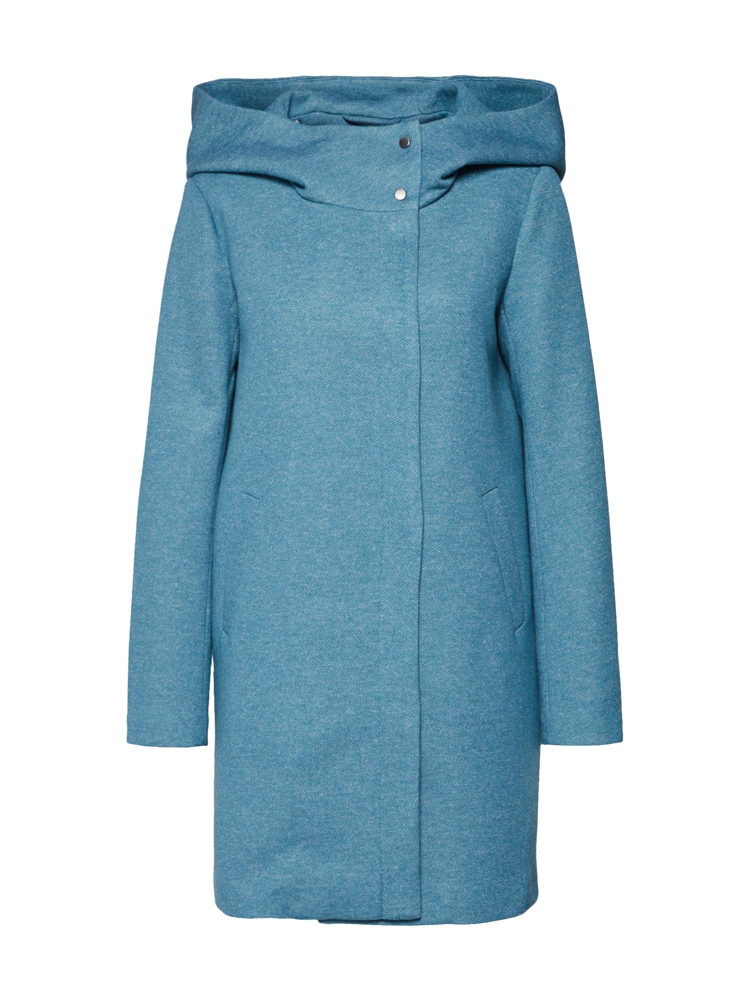 Přechodný kabát onlMADDIE Light Hooded Long Coat CC OTW nebeská modř ONLY