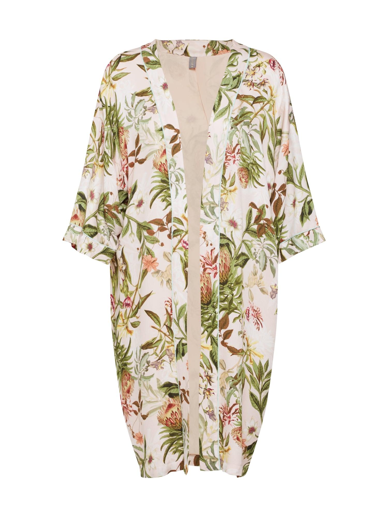 Kimono Sidra světle zelená mix barev růže CULTURE