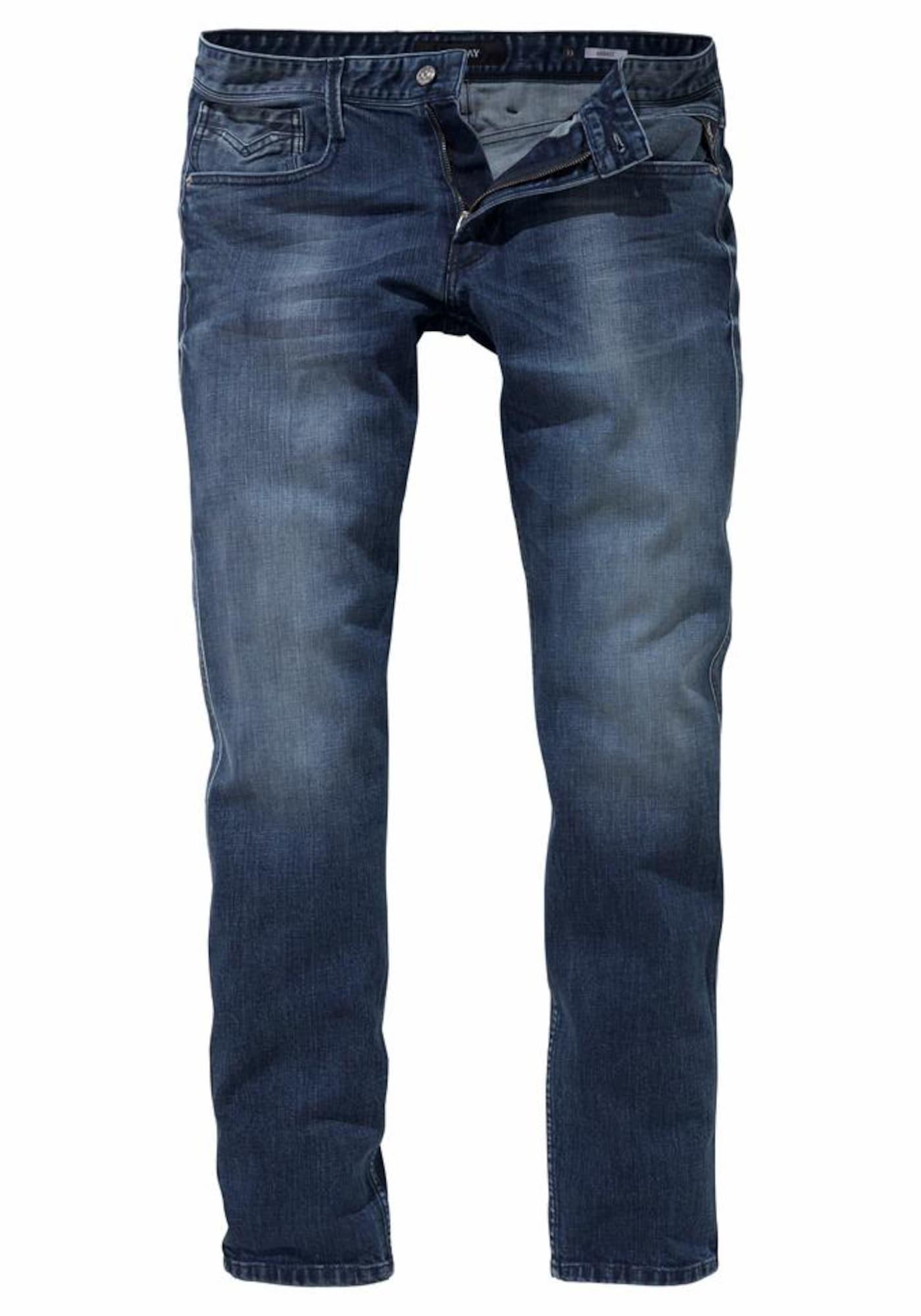 REPLAY Heren Jeans Anbass blauw