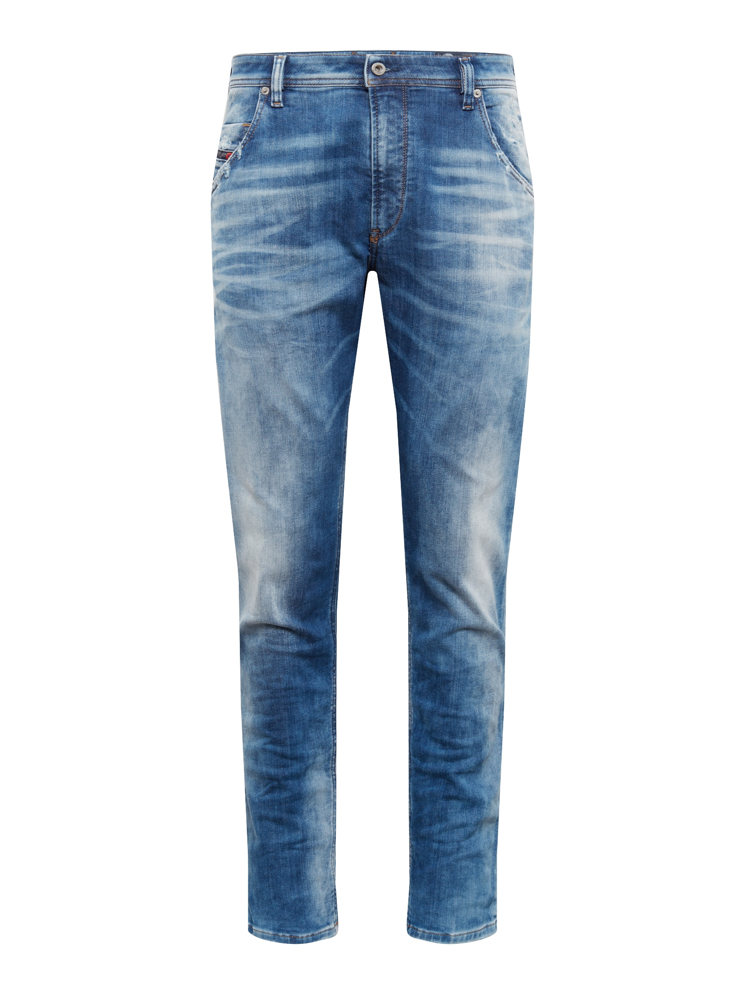 Džíny KROOLEY-T Sweat jeans modrá džínovina DIESEL