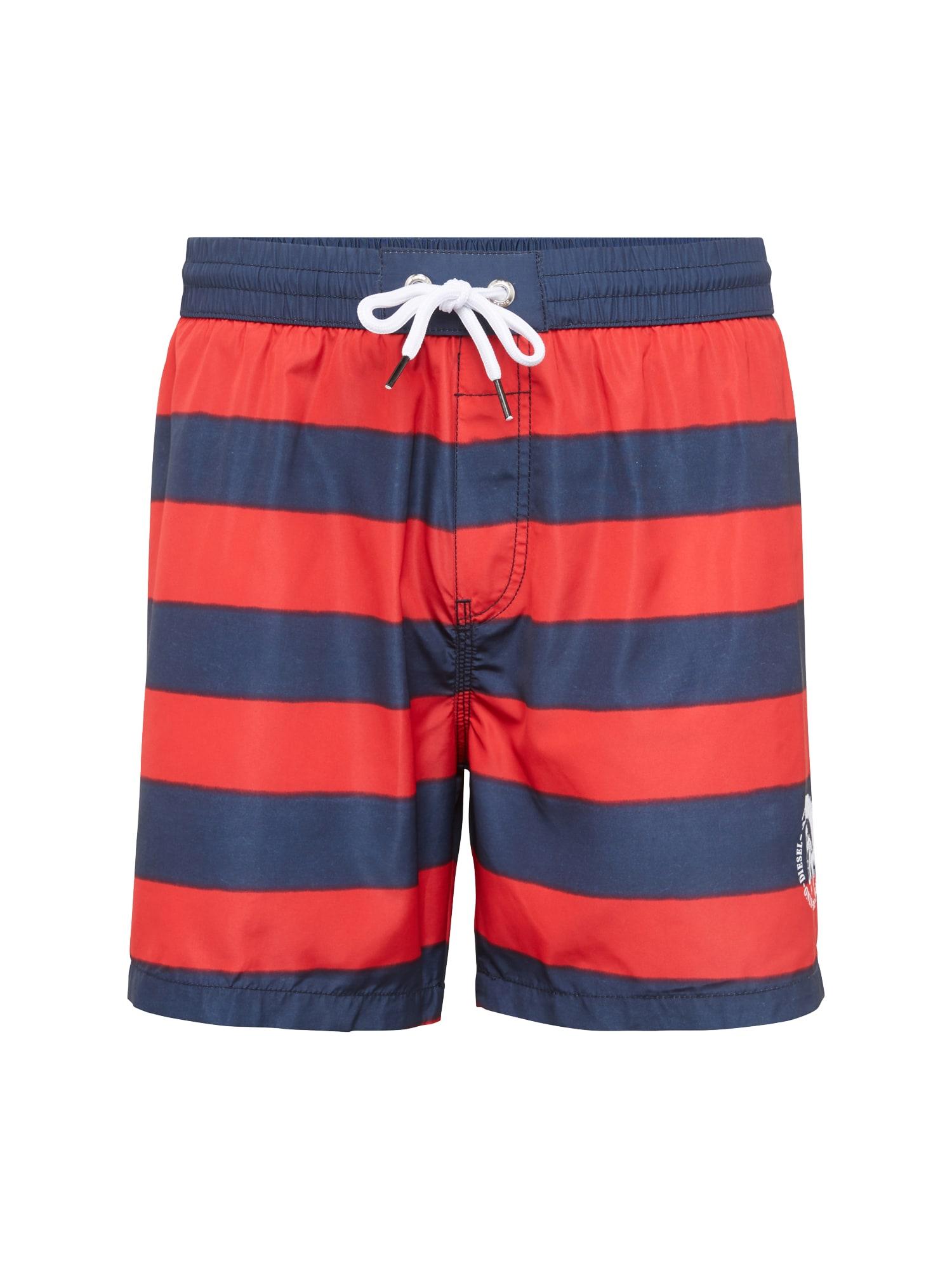 DIESEL Heren Zwemshorts BMBX-WAVE 2 017 blauw rood