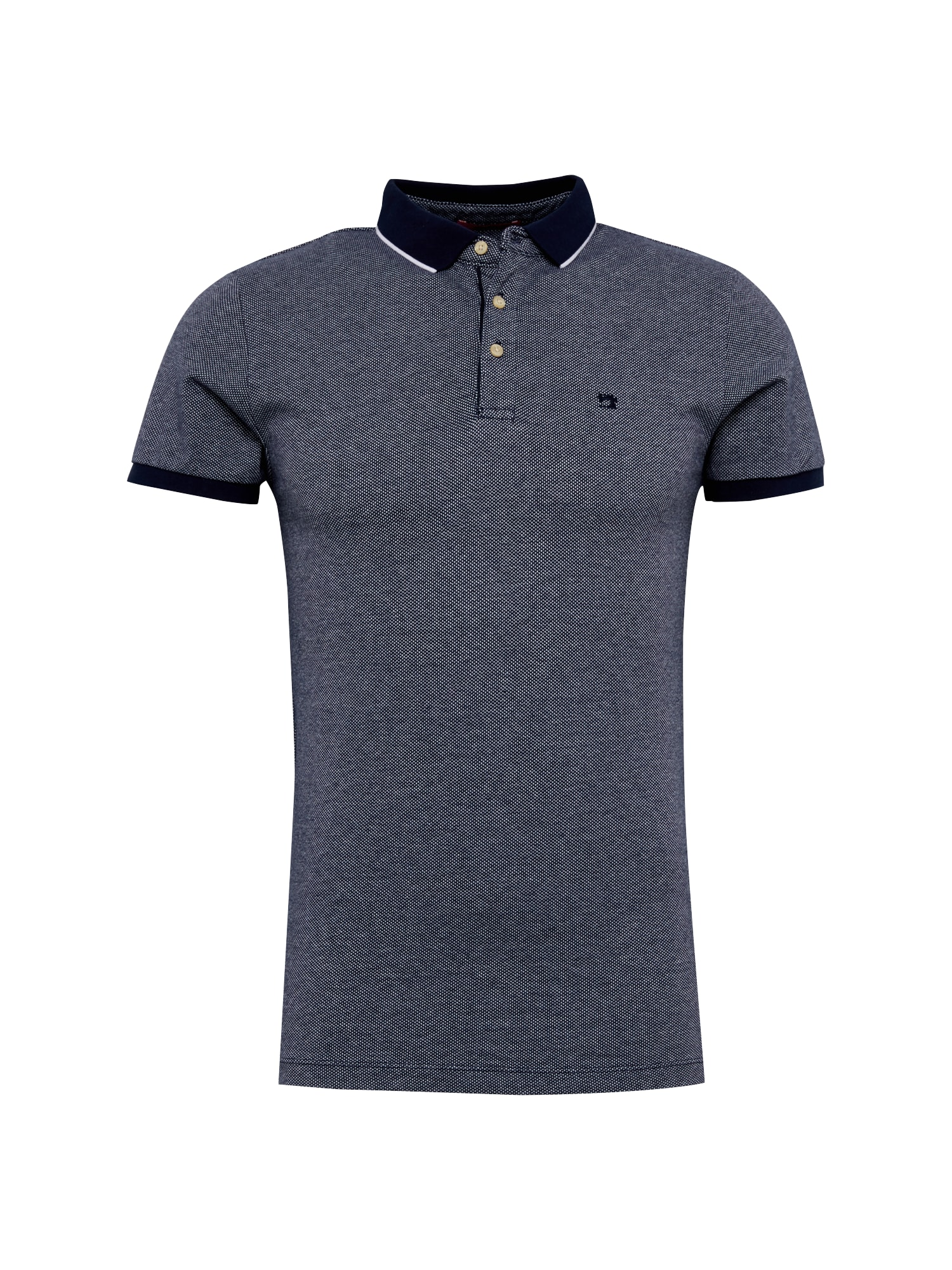 SCOTCH  and  SODA Heren Shirt Classic 2-Tone pique polo donkerblauw wit