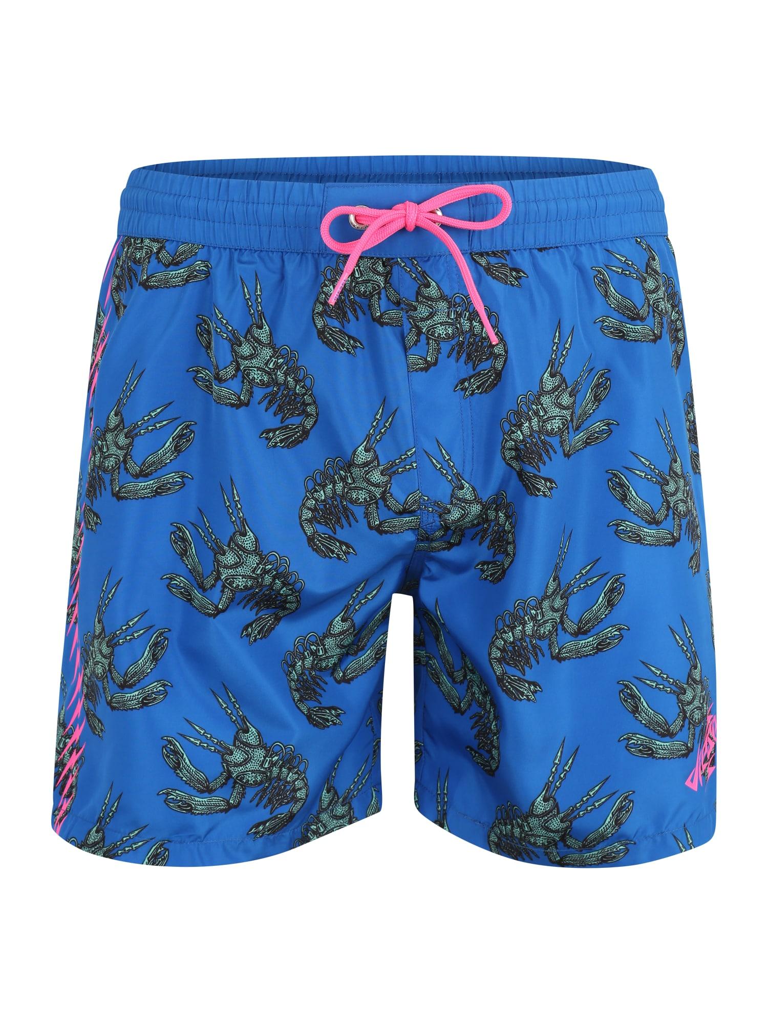 Plavecké šortky BMBX-WAVE královská modrá zelená DIESEL