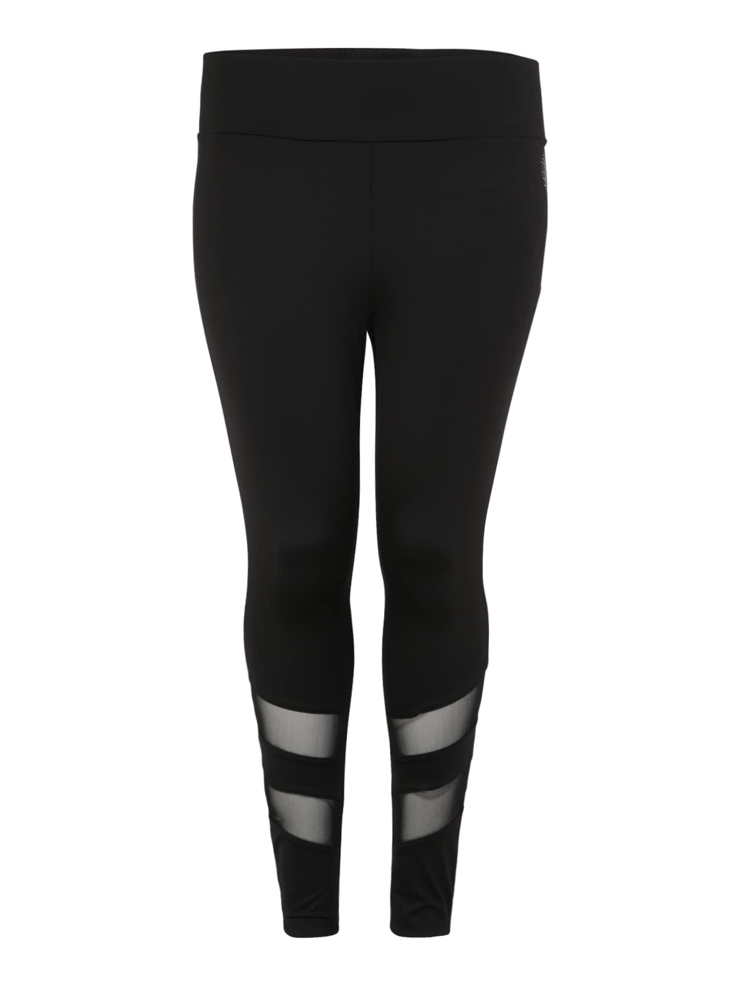 Sportovní kalhoty ABELARUS černá Active By Zizzi