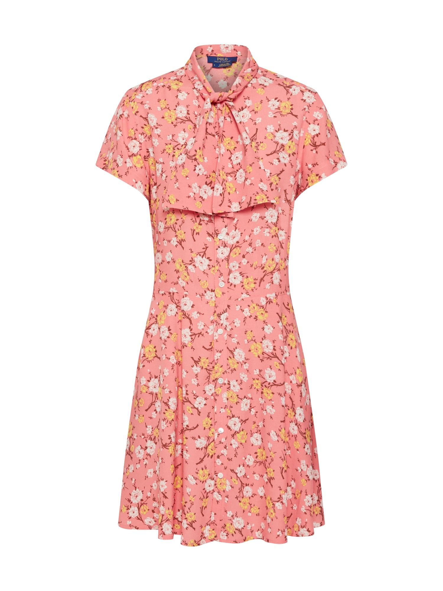 Košilové šaty SS BE DR-SHORT SLEEVE-CASUAL DRESS meruňková lososová POLO RALPH LAUREN