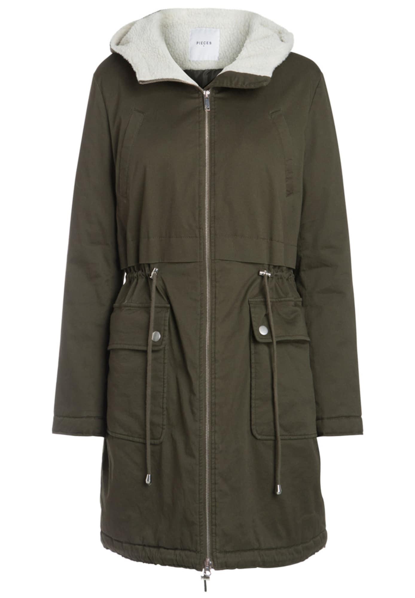 Zimní bunda zelená PIECES