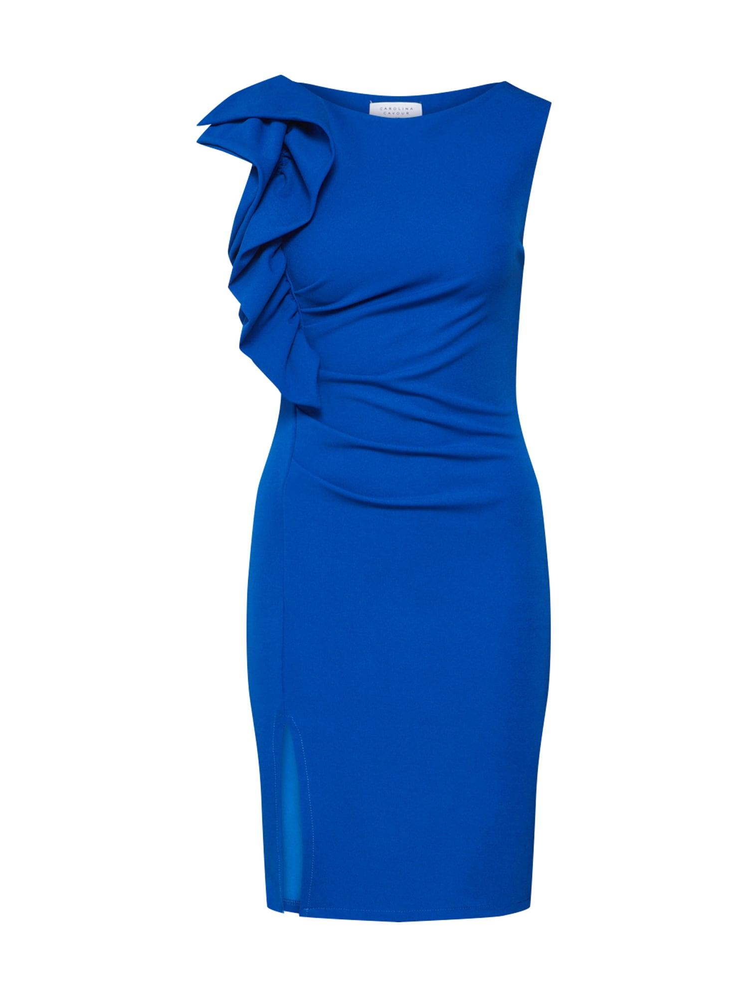 Pouzdrové šaty modrá Carolina Cavour