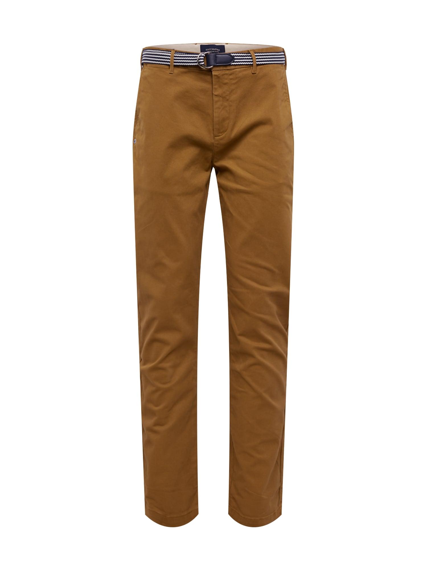 SCOTCH & SODA Chino kalhoty ' Ams Blauw '  světle hnědá