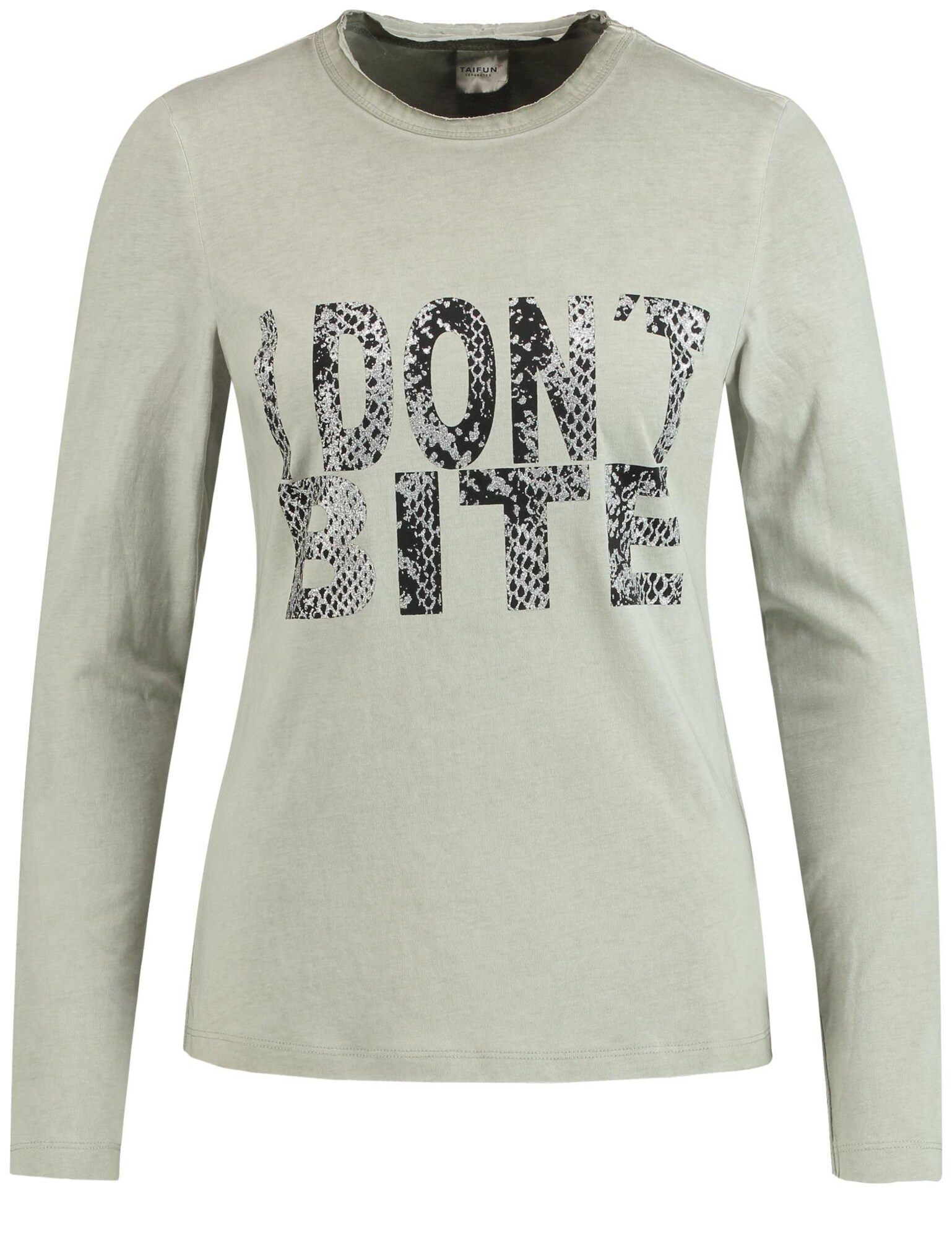 T-Shirt | Bekleidung > Shirts > Sonstige Shirts | Khaki - Schwarz - Silber | TAIFUN