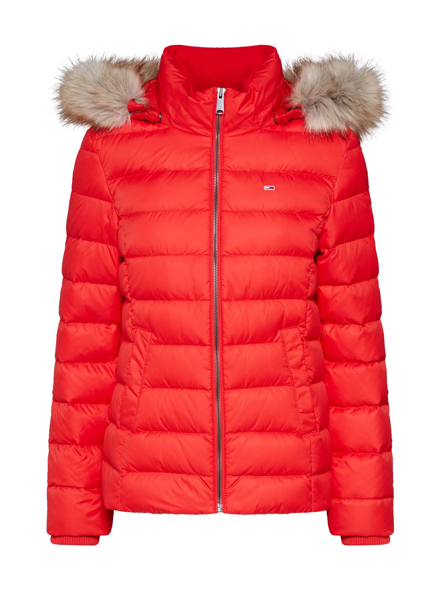 Zimní bunda červená Tommy Jeans