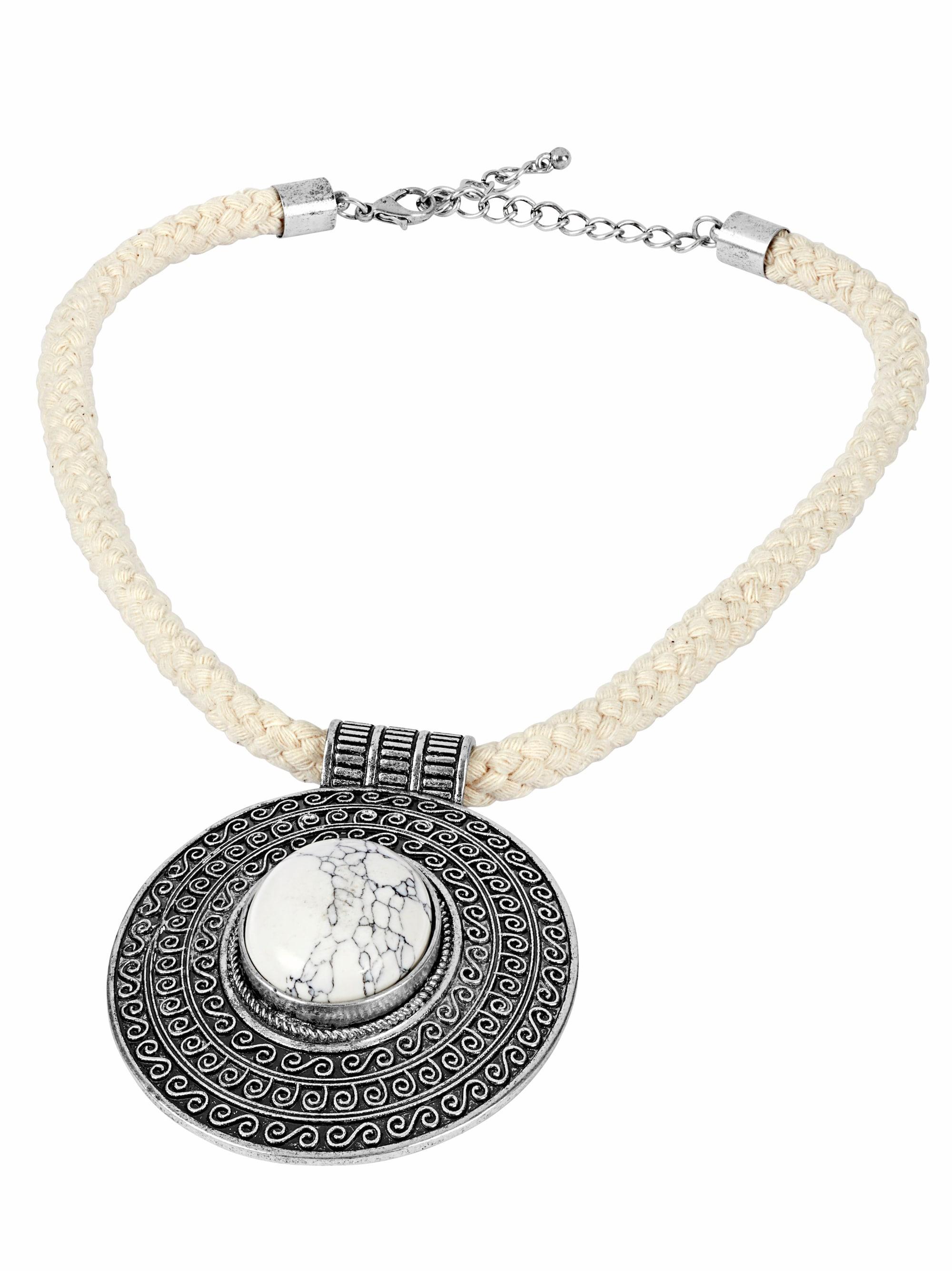 Collier mit marmoriertem Stein