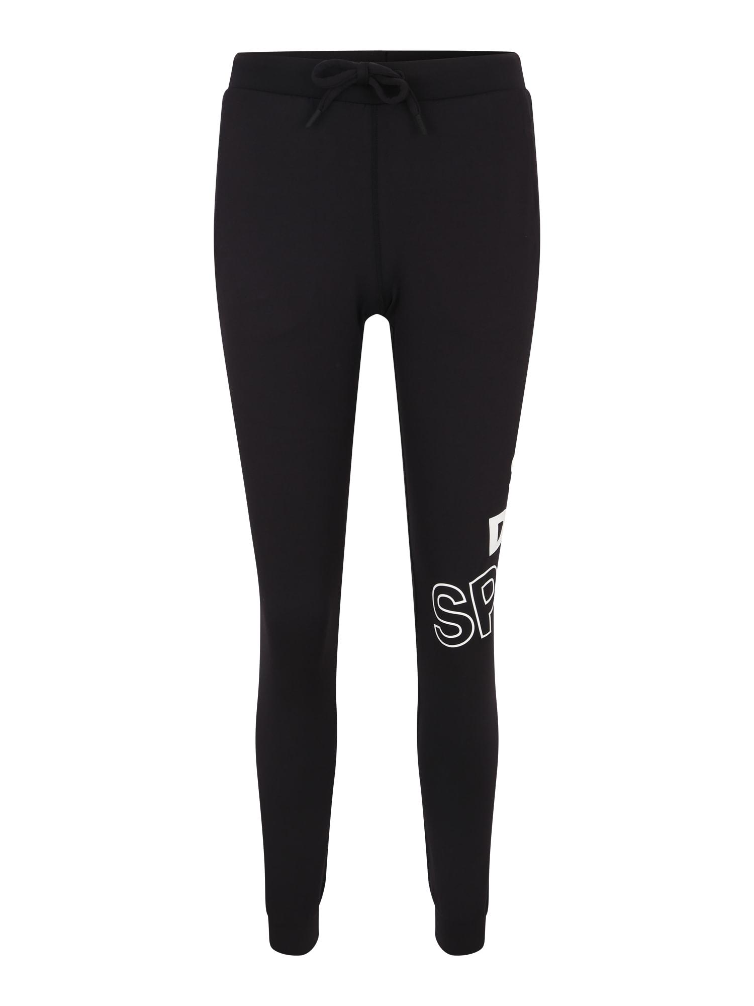 Sportovní kalhoty CORE GRAPHIC černá bílá Superdry