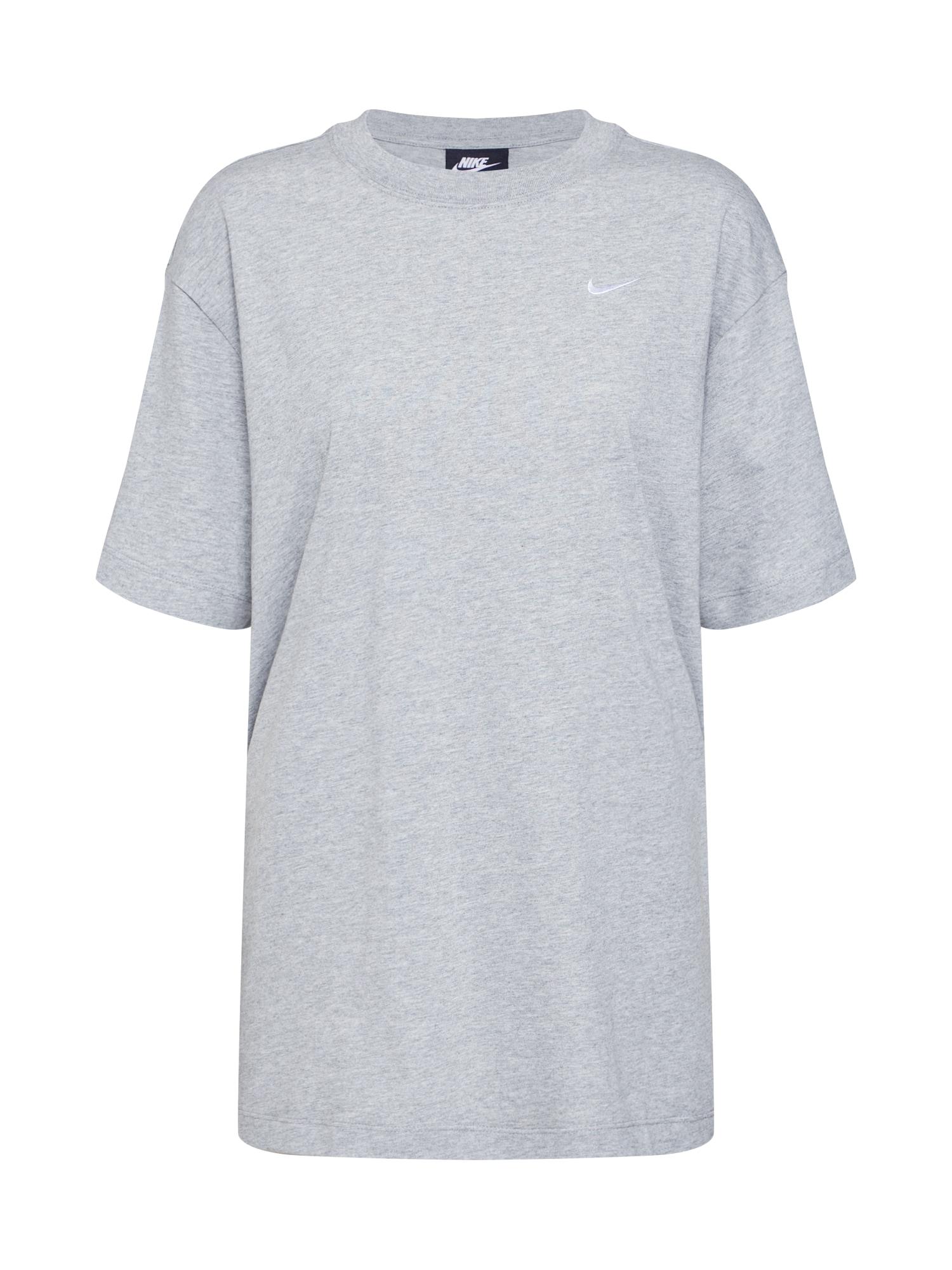Oversized tričko ESSNTL šedá bílá Nike Sportswear