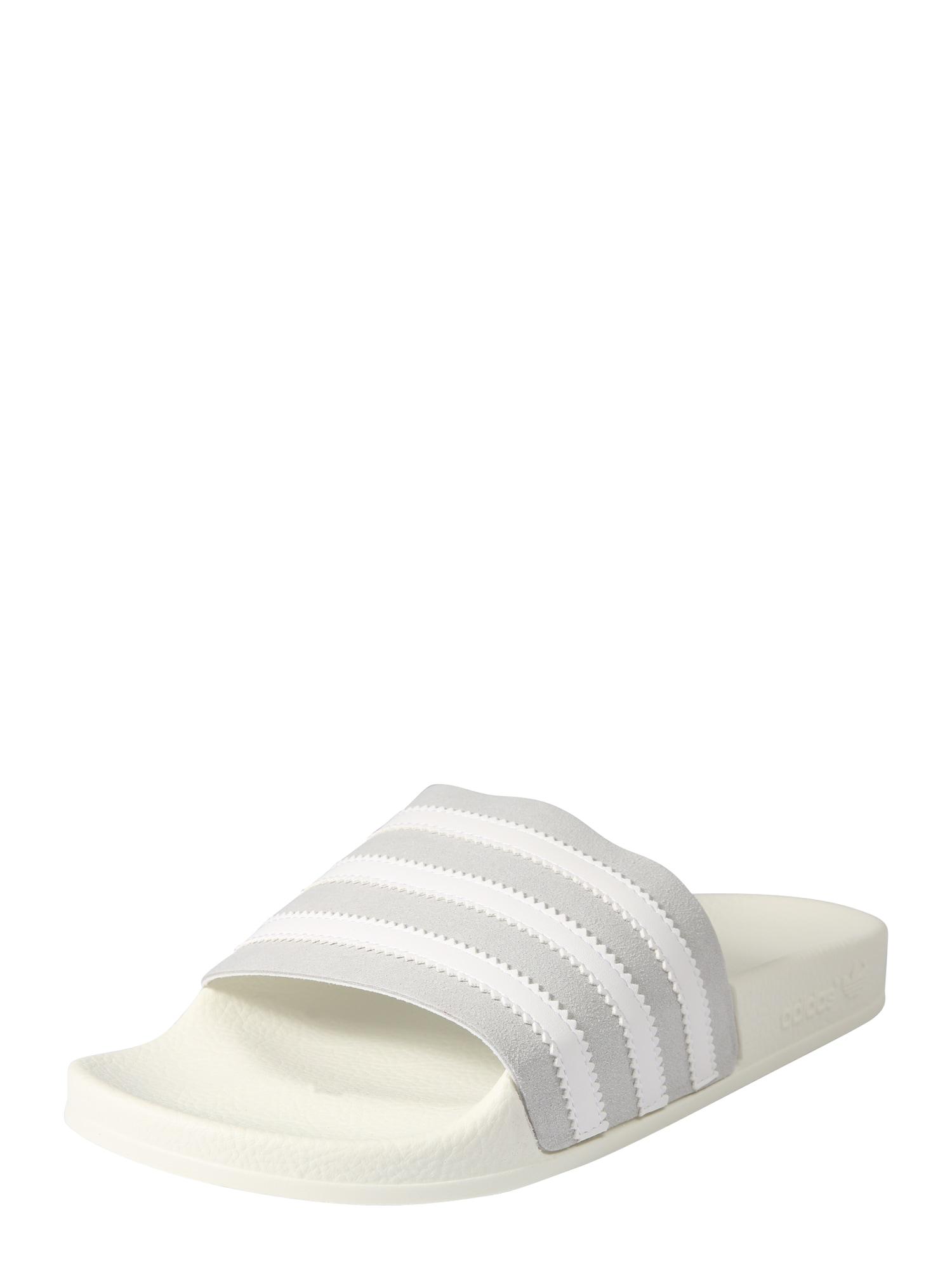Plážovákoupací obuv světle šedá bílá ADIDAS ORIGINALS