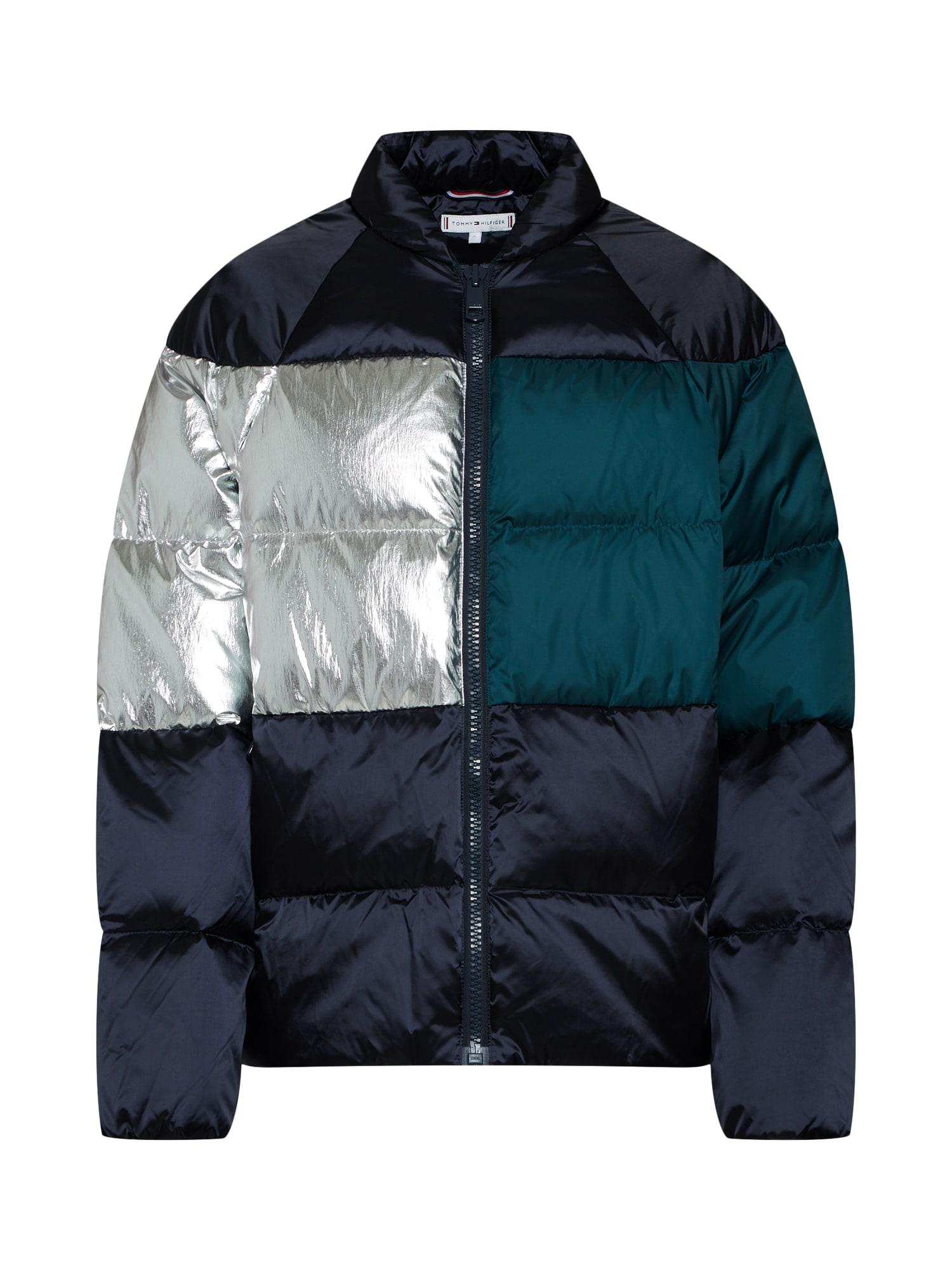 Zimní bunda BARDOT námořnická modř smaragdová stříbrná TOMMY HILFIGER