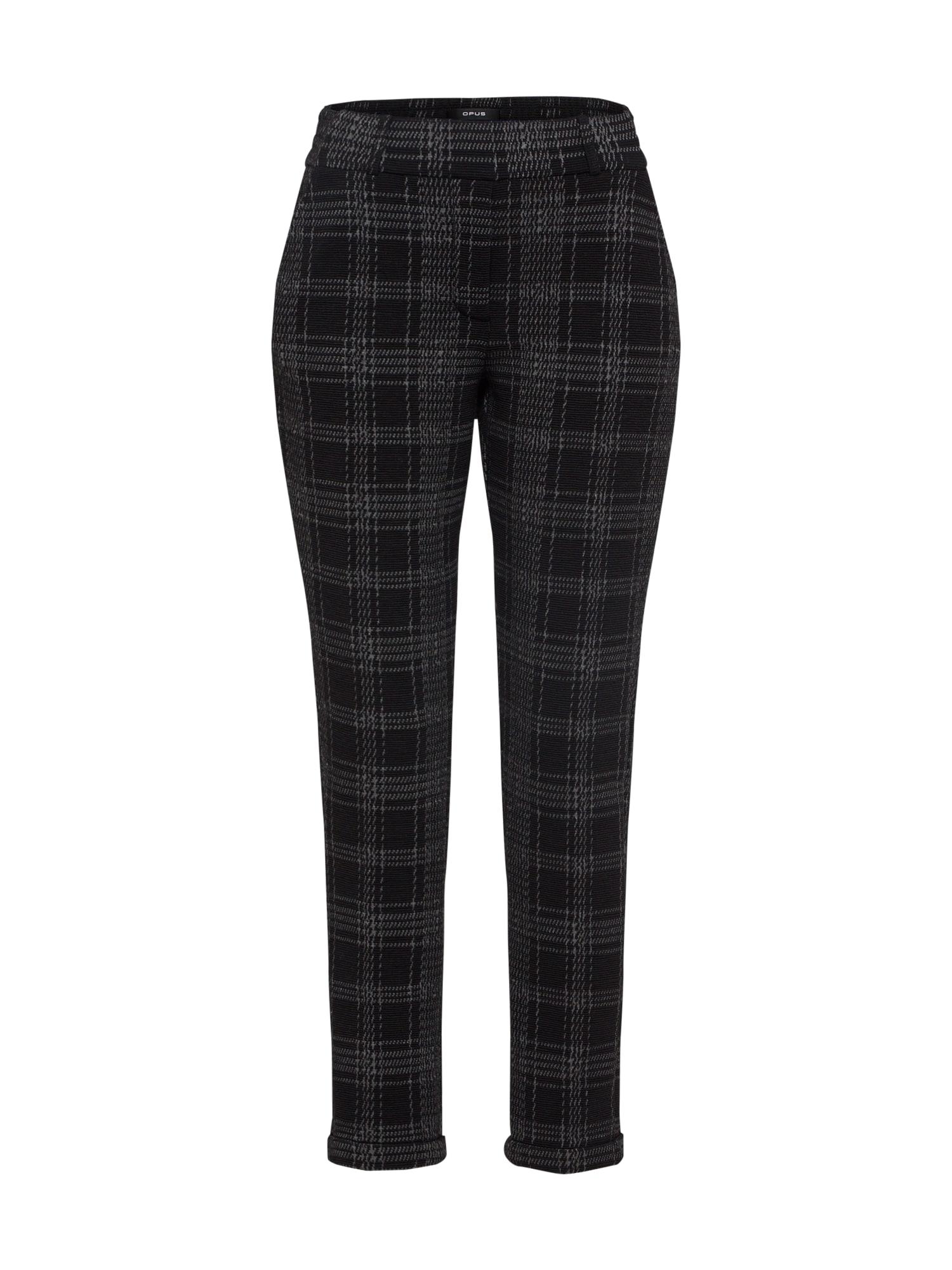 Kalhoty s puky Madeni check černá OPUS