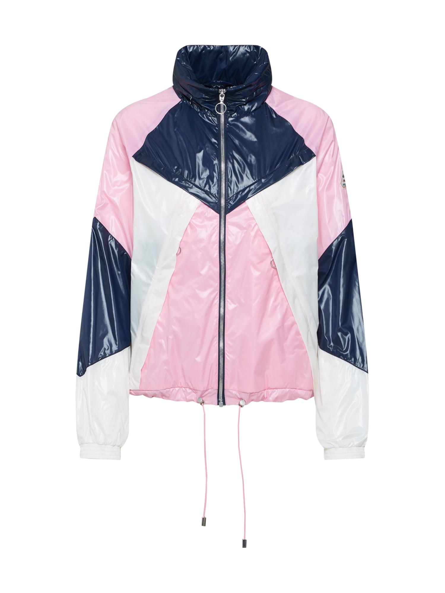 Přechodná bunda Motola námořnická modř růžová bílá PYRENEX