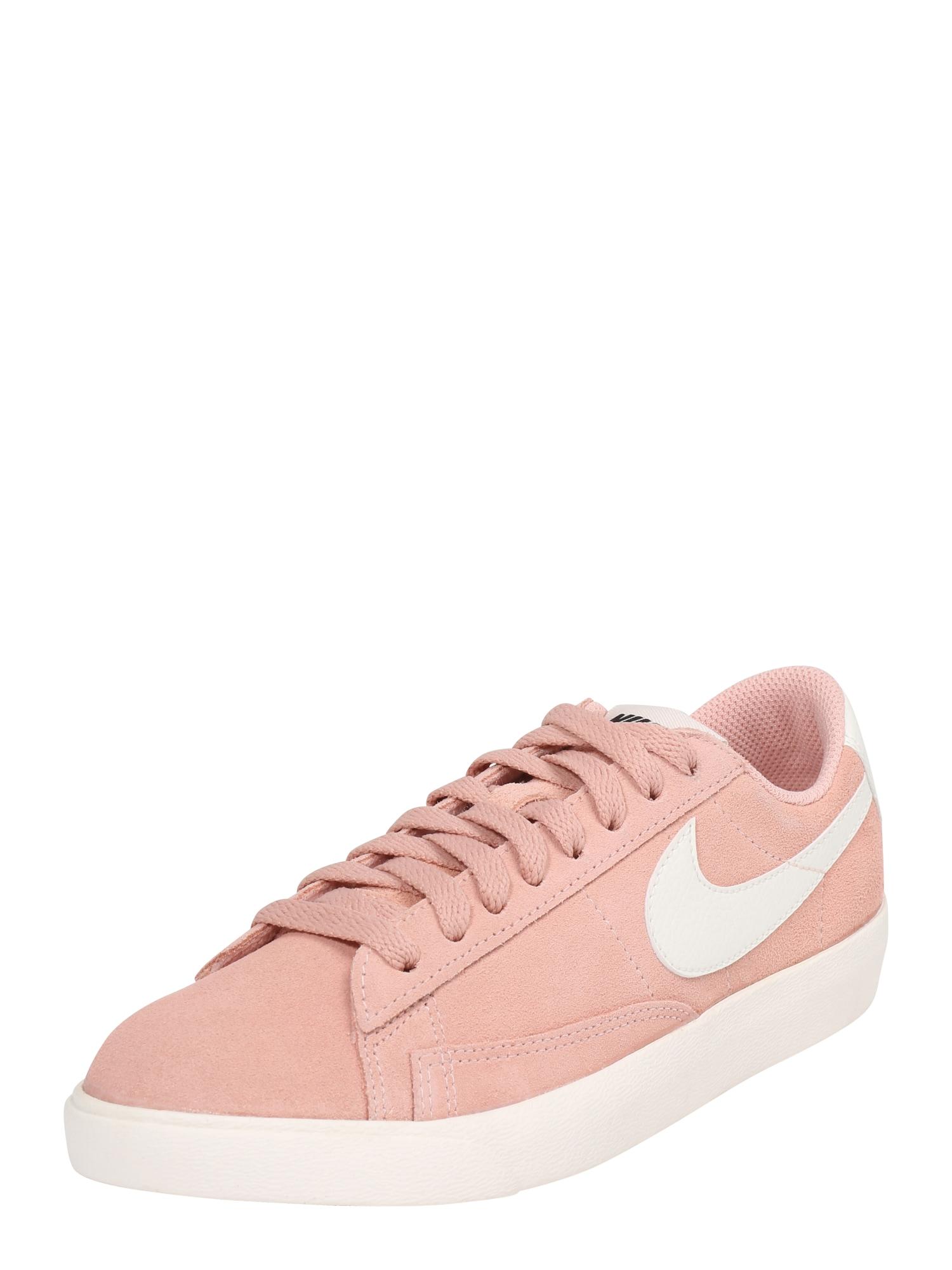 Nike Sportswear, Dames Sneakers laag 'BLAZER LOW', oudroze / wit